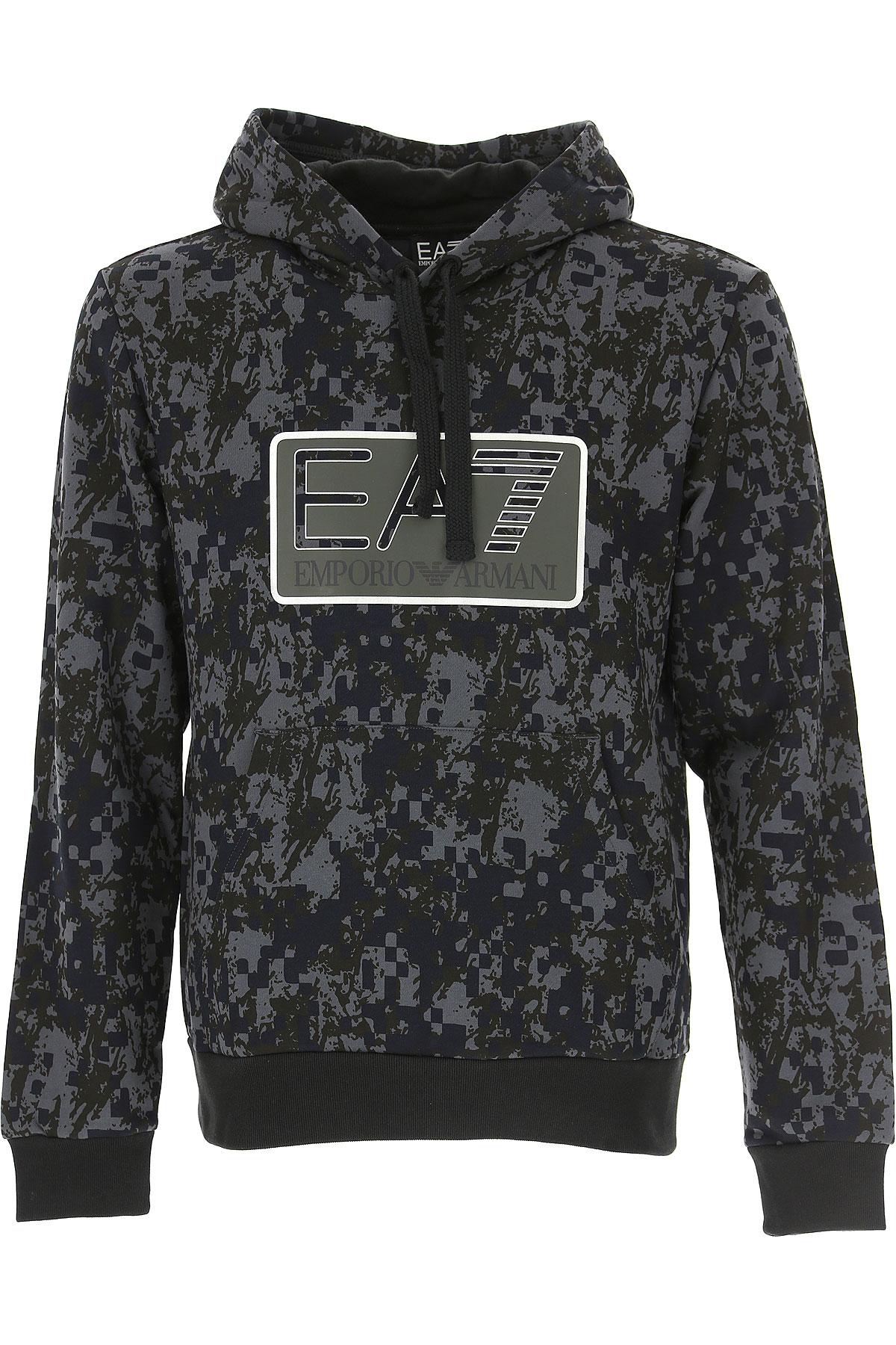 Emporio Armani Sweatshirt for Men, Black, Cotton, 2017, L M S XL USA-484356