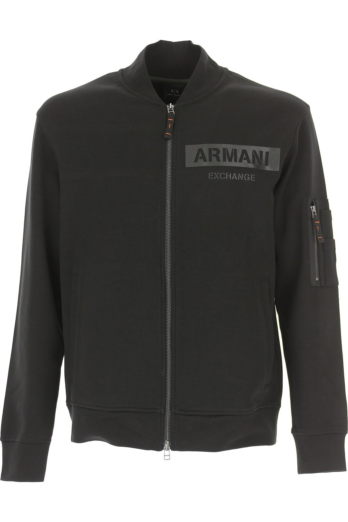 Emporio Armani Sweatshirt for Men, Black, Cotton, 2017, L M S XL USA-472333