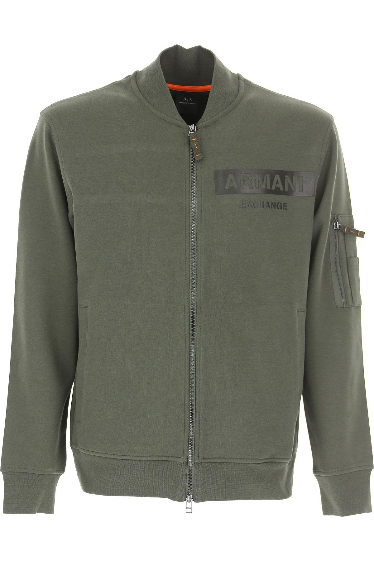 Emporio Armani Sweatshirt for Men, Forest Green, Cotton, 2017, L M S XL USA-472342
