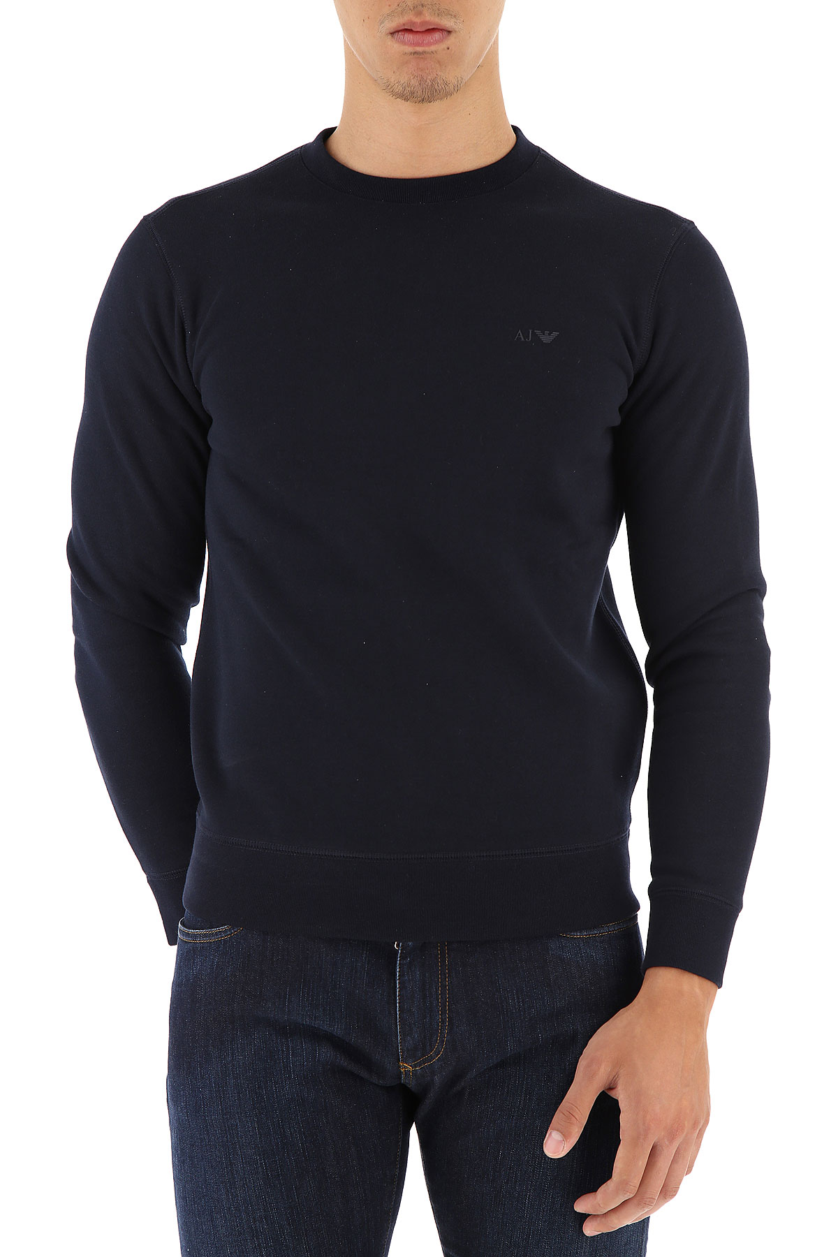 Emporio Armani Pull Homme, Bleu nuit, Coton, 2017, L M XL XXL