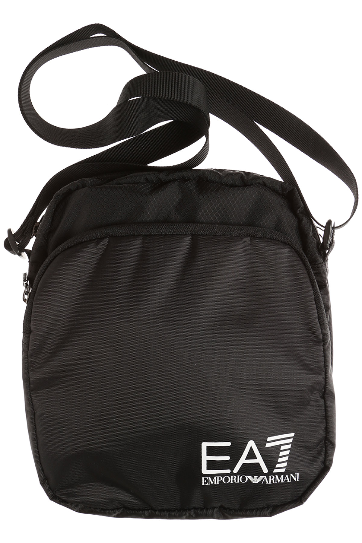 Image of Emporio Armani Messenger Bag for Men, Train Prime Pouch, Black, polyamide, 2017