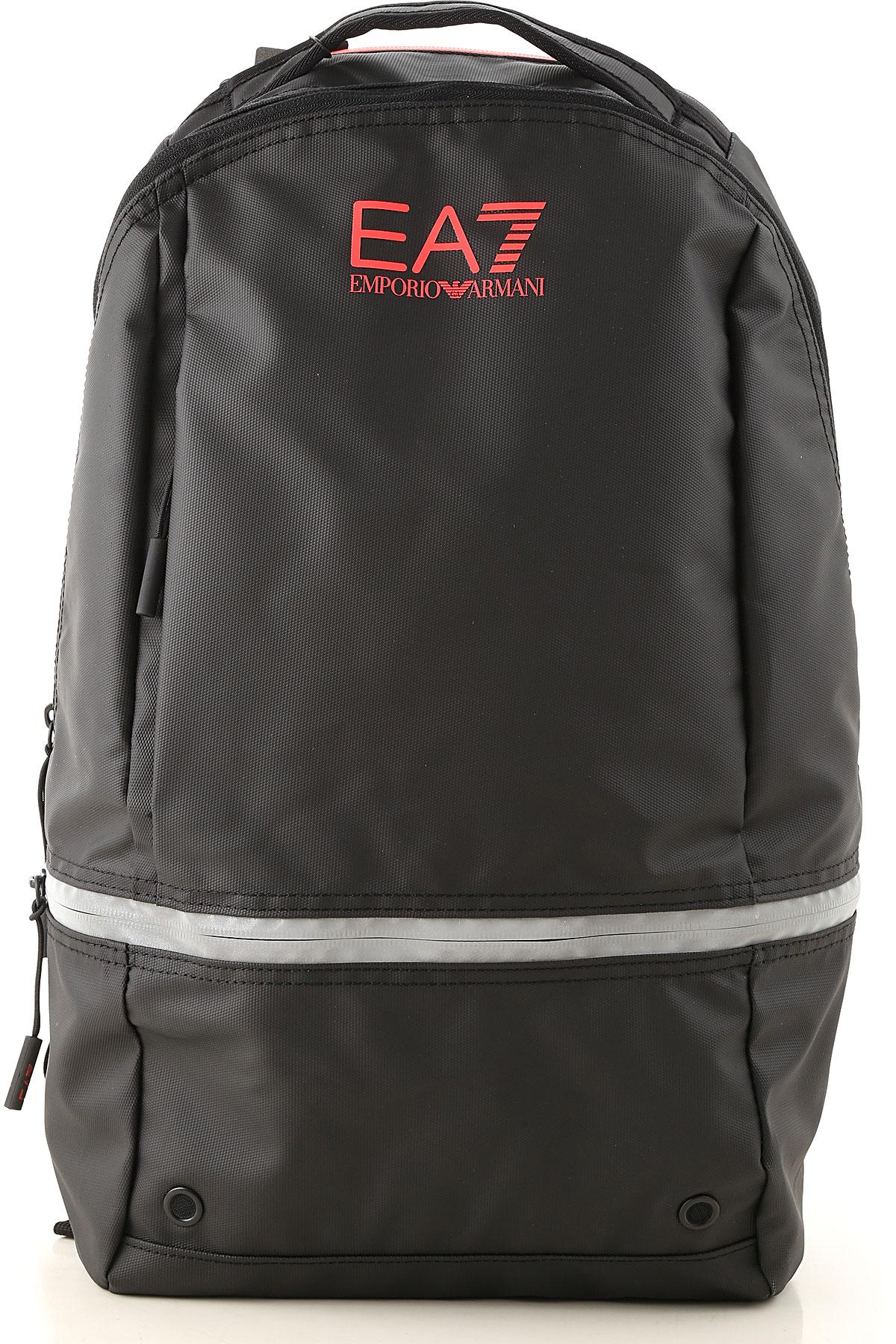 Emporio Armani Backpack for Men On Sale, Black, polyester, 2019