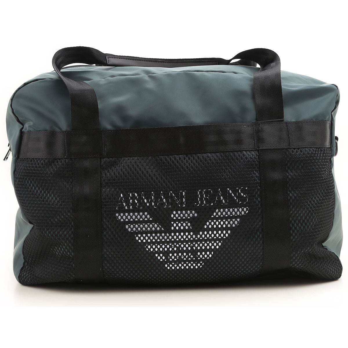 Image of Emporio Armani Gym Bag Sports for Men On Sale, Dark Green, Nylon, 2017