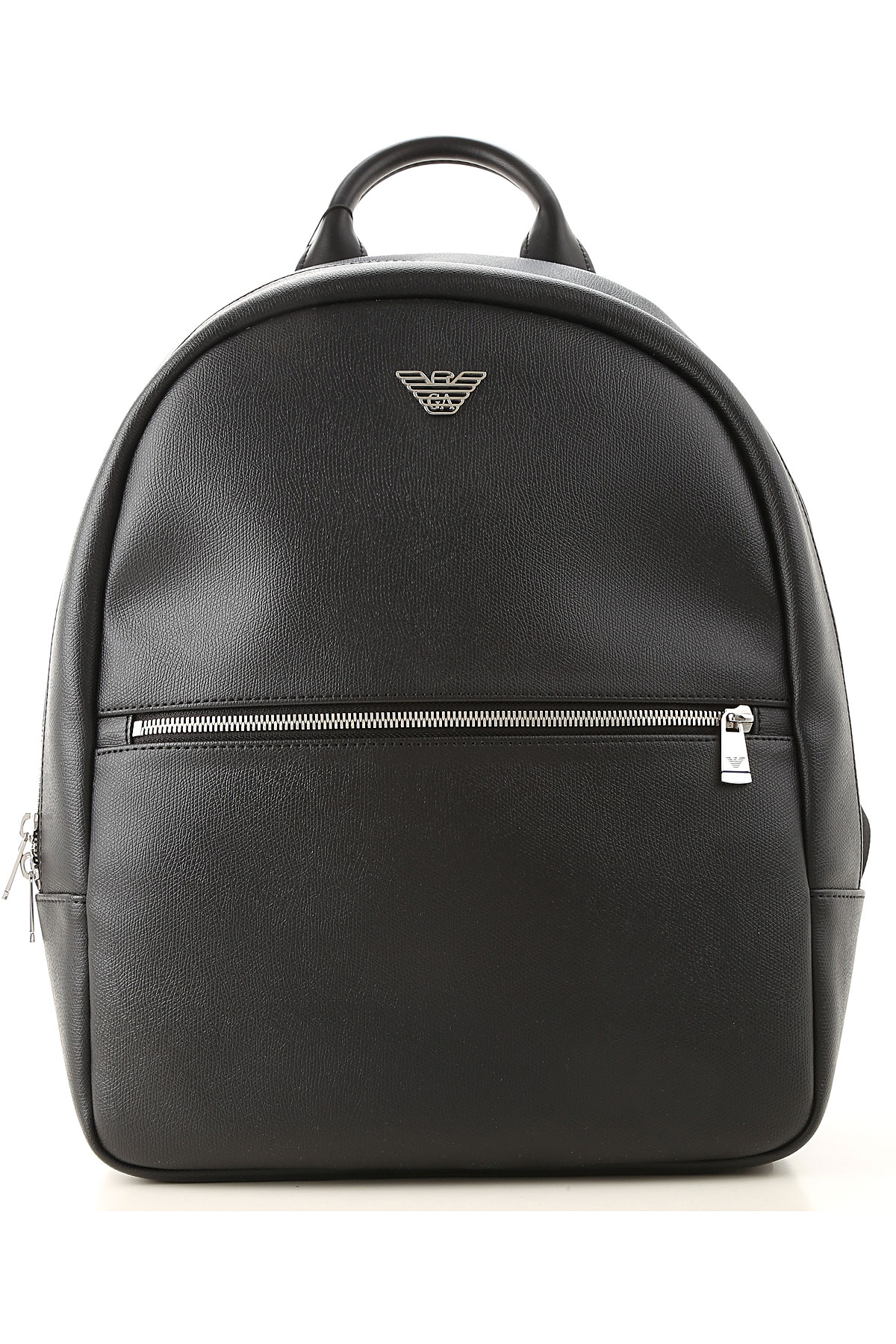 Emporio Armani Backpack for Men On Sale, Black, Leather, 2019, one size