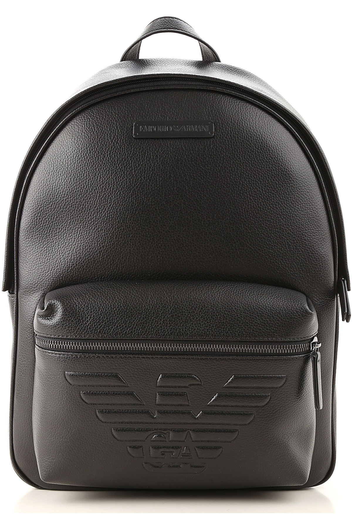 Emporio Armani Backpack for Men On Sale, Black, Leather, 2019