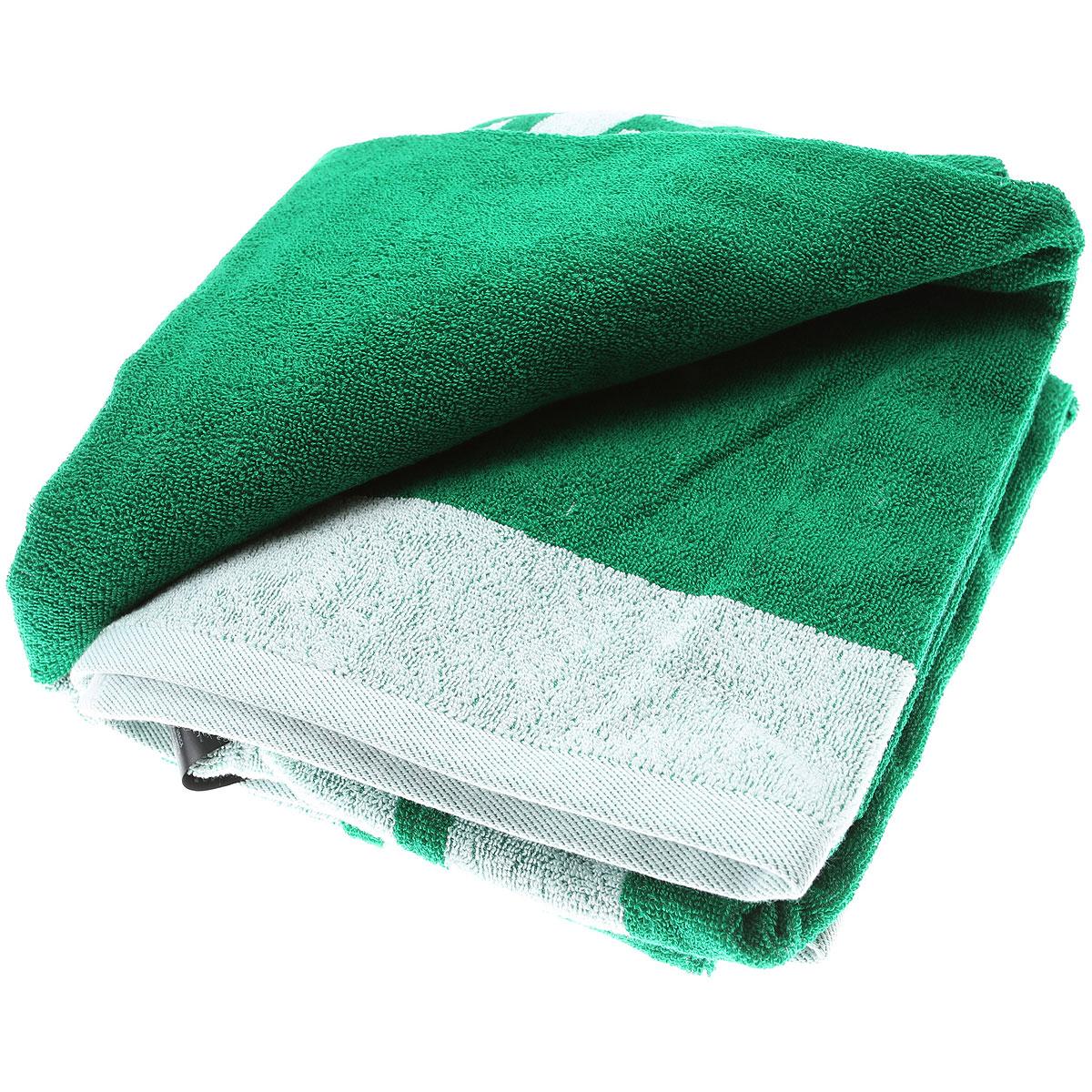 Emporio Armani Beach Towel On Sale, Green, Cotton, 2019
