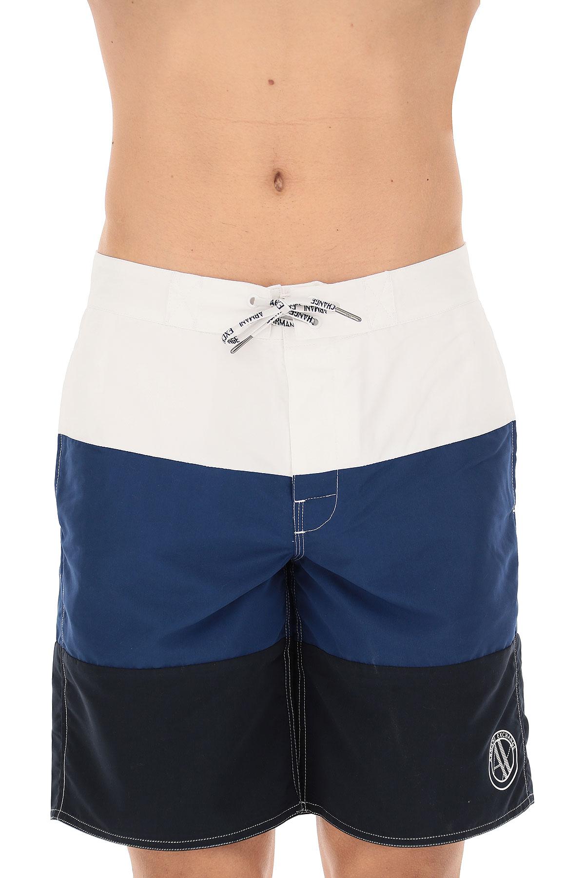 Nouveau Emporio Armani Short de Bain Homme Pas cher en Soldes Outlet, Bleu,  Polyester, 26e24ef1866