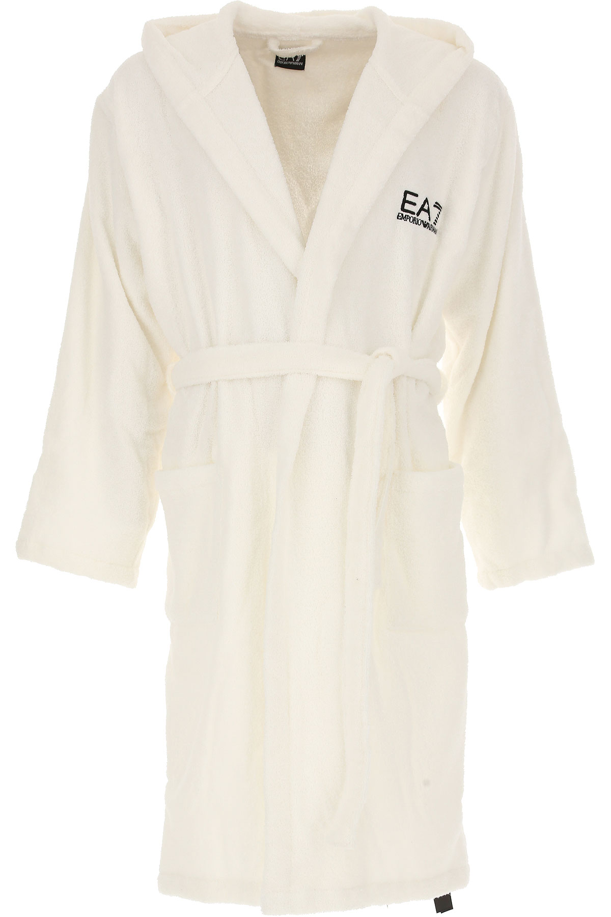 Image of Emporio Armani Mens Swimwear, White, Cotton, 2017, M L XL