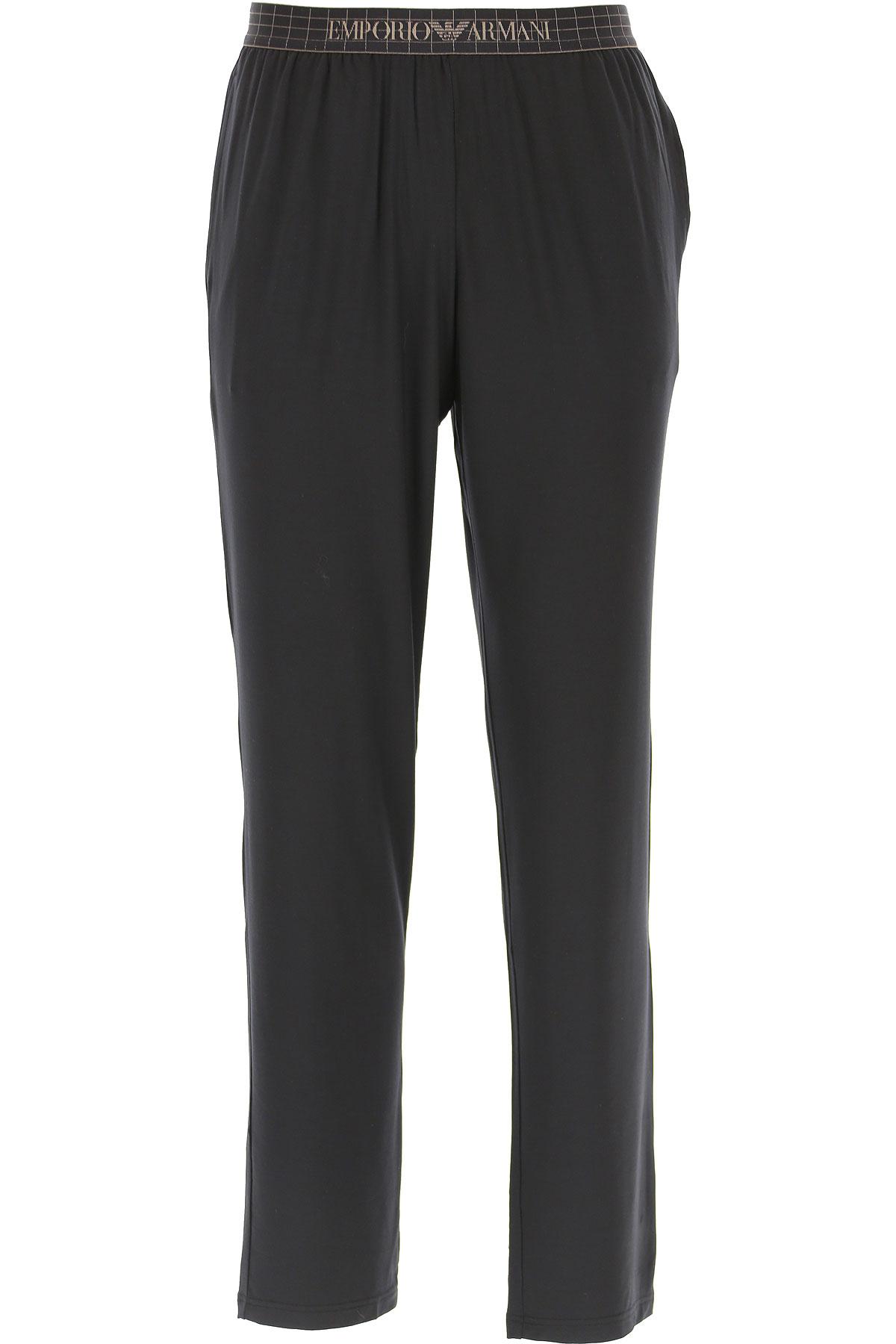 Emporio Armani Loungewear for Men, Black, Modal, 2019, M (IT 4) S (IT 3) XL (IT 6)