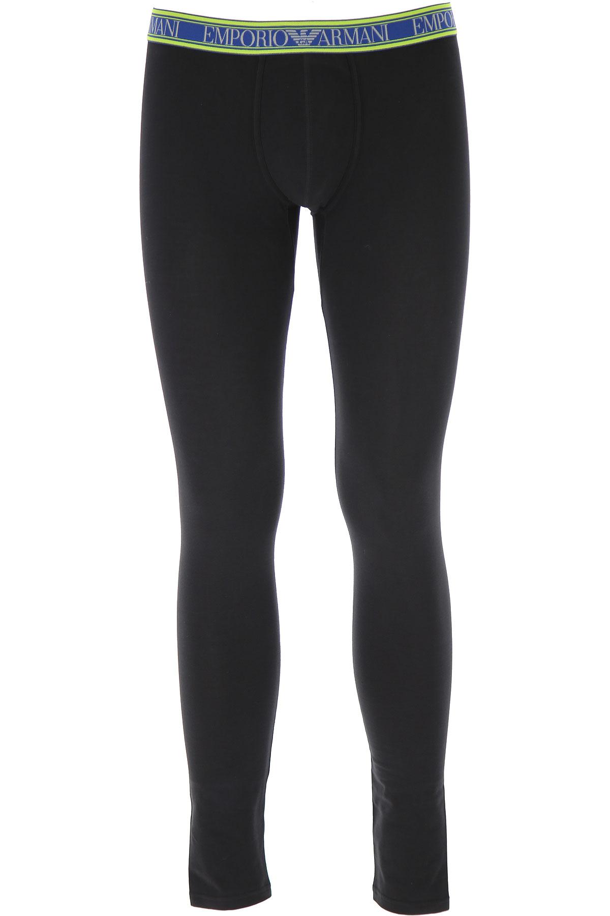 Emporio Armani Loungewear for Men, Black, Cotton, 2019, L (IT 5) XL (IT 6)