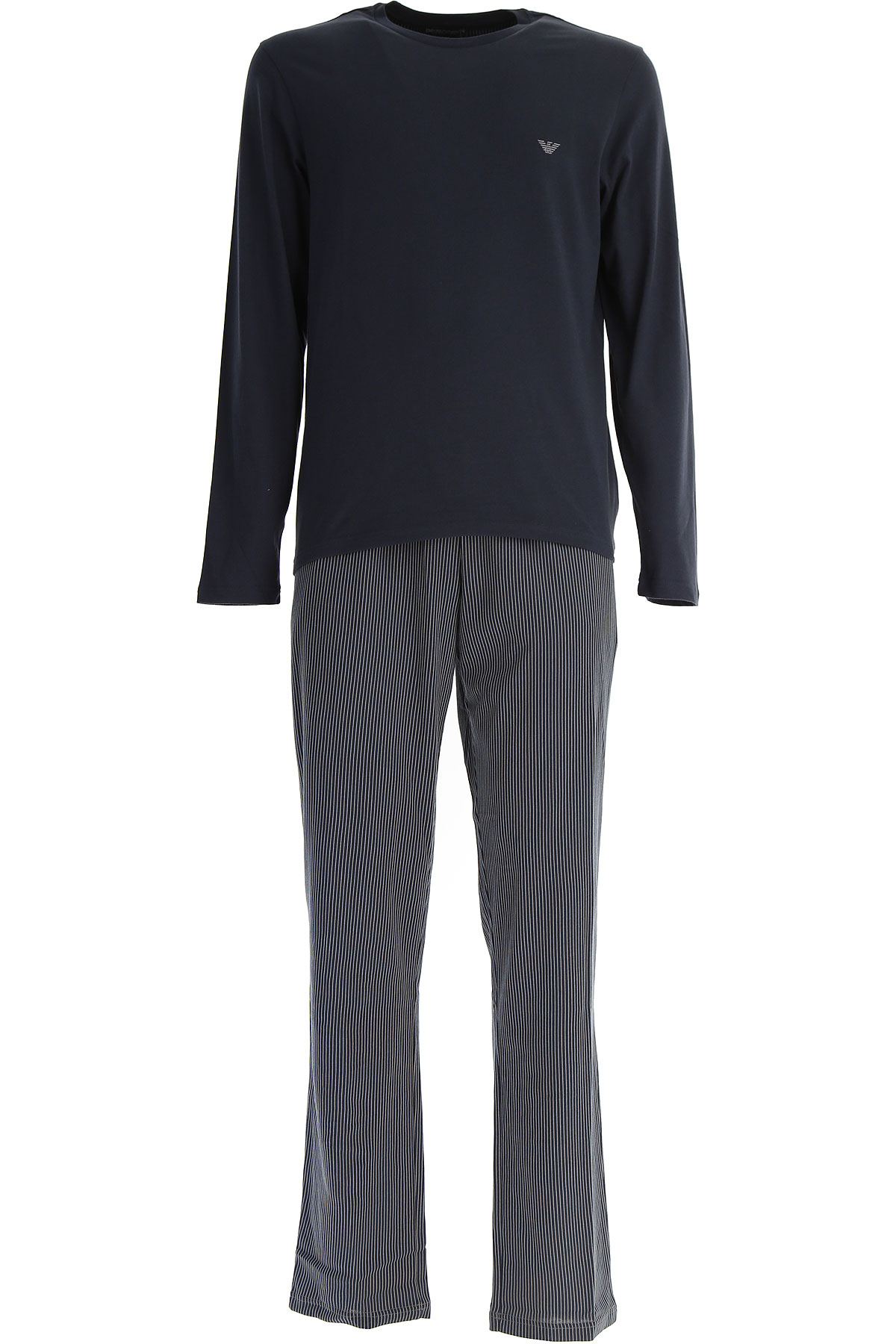 Image of Emporio Armani Loungewear for Men, Blue Marine, Cotton, 2017, M (EU 4) S (EU 3) L (EU 5) XL (EU 6)