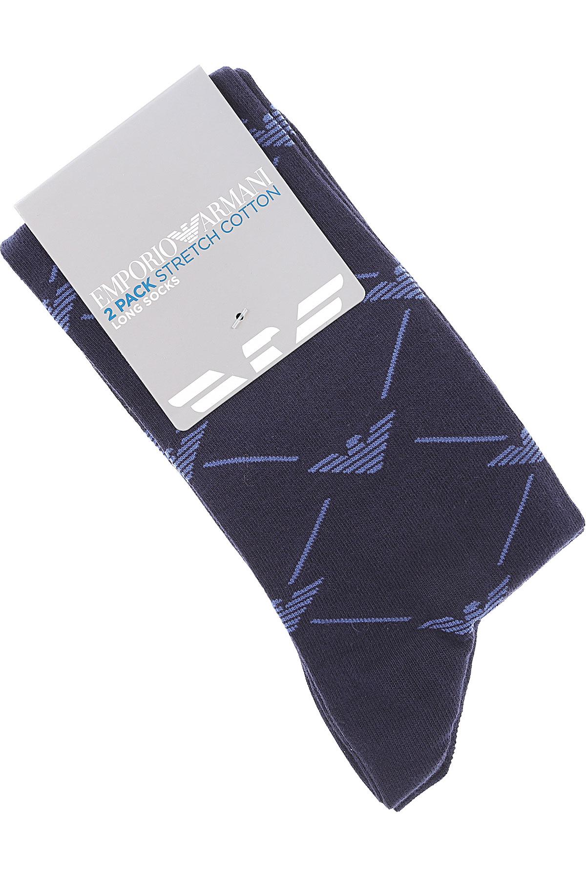 Emporio Armani Socks Socks for Men On Sale, Black, Cotton, 2019