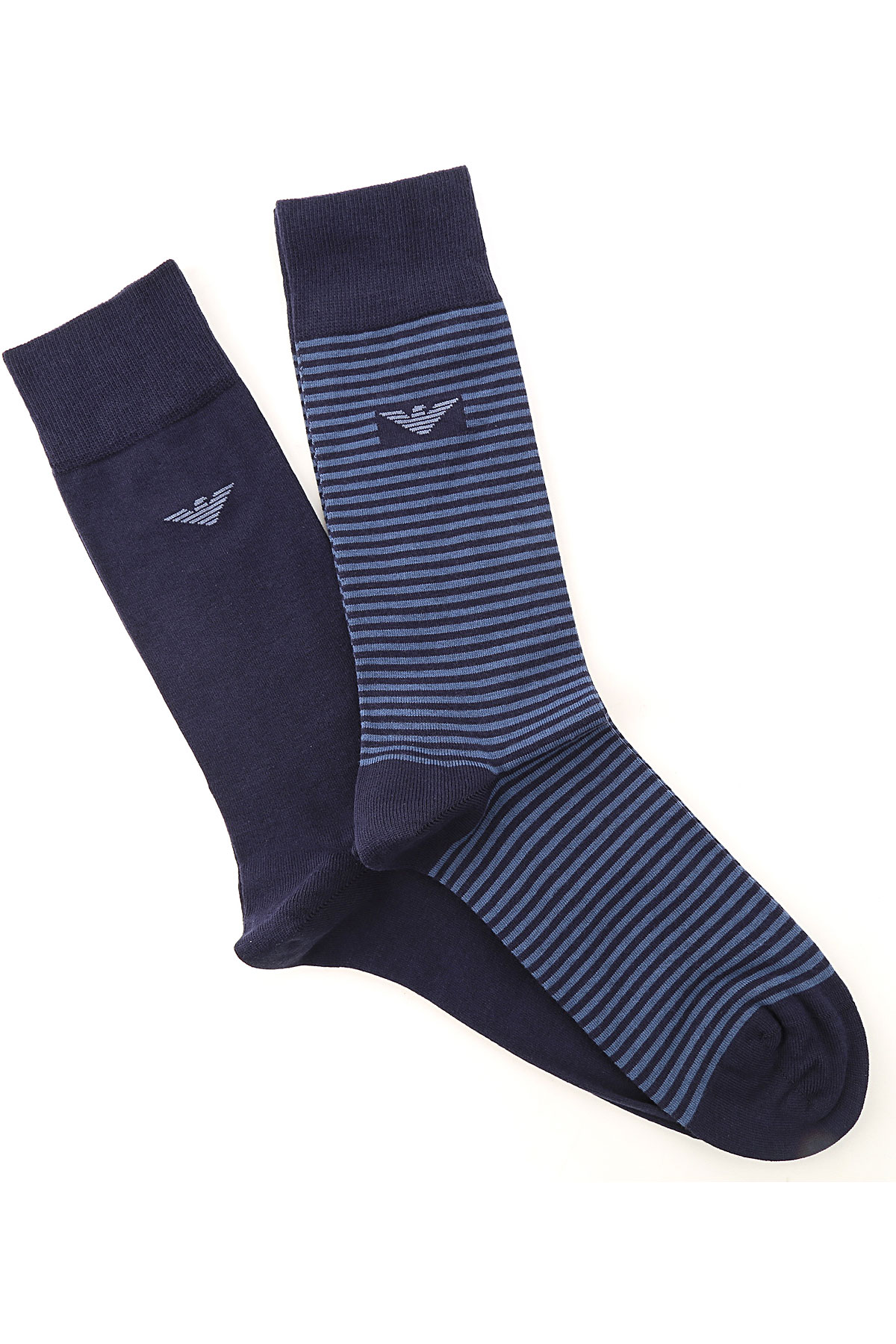 Emporio Armani Socks Socks for Men On Sale, 2 Pack, Midnight Blue, Organic Cotton, 2019