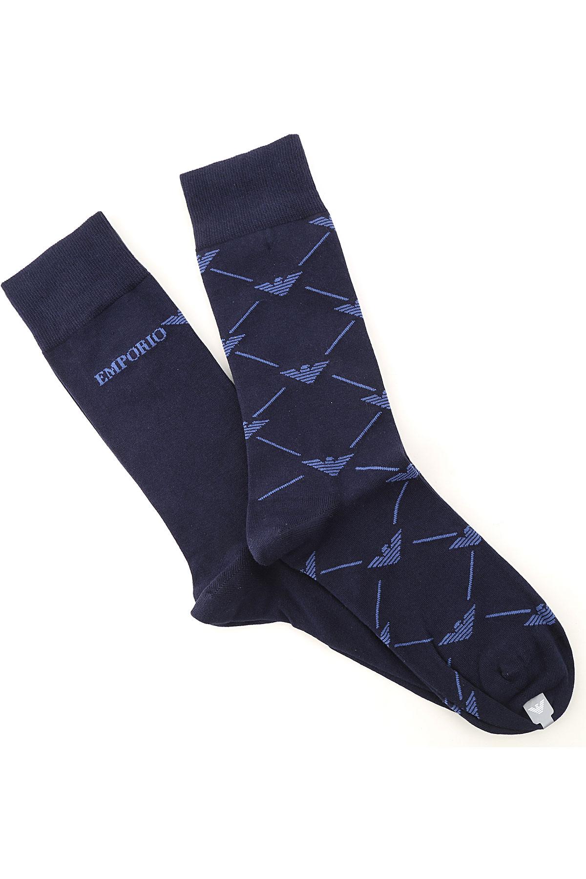 Emporio Armani Socks Socks for Men On Sale, 2 Pack, Dark Midnight Blue, Cotton, 2019