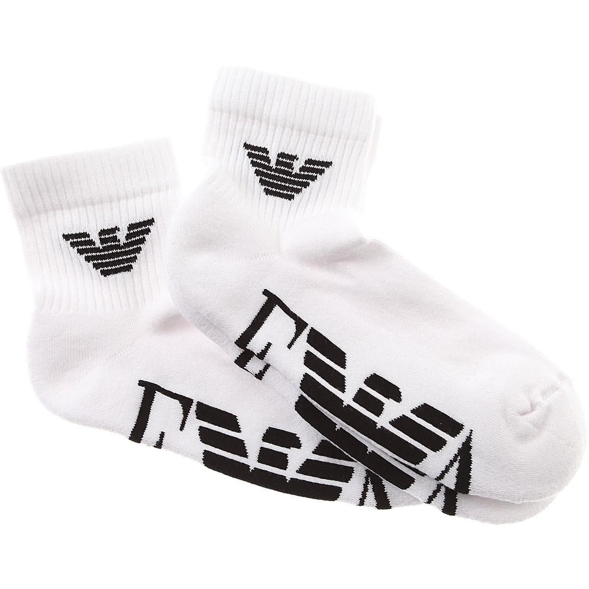 Image of Emporio Armani Socks Socks for Men, 2 Pack, White, Cotton, 2017, S - M L - XL