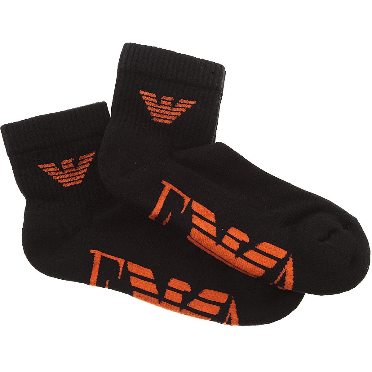 Image of Emporio Armani Socks Socks for Men, 2 Pack, Black, Cotton, 2017, S - M L - XL