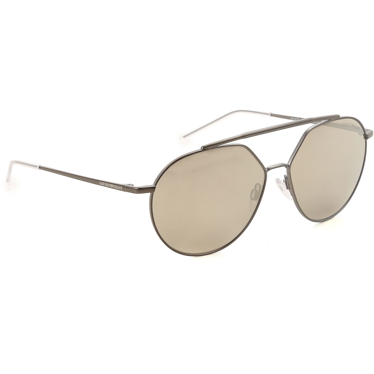 Image of Emporio Armani Sunglasses On Sale, Matte Silver, 2017