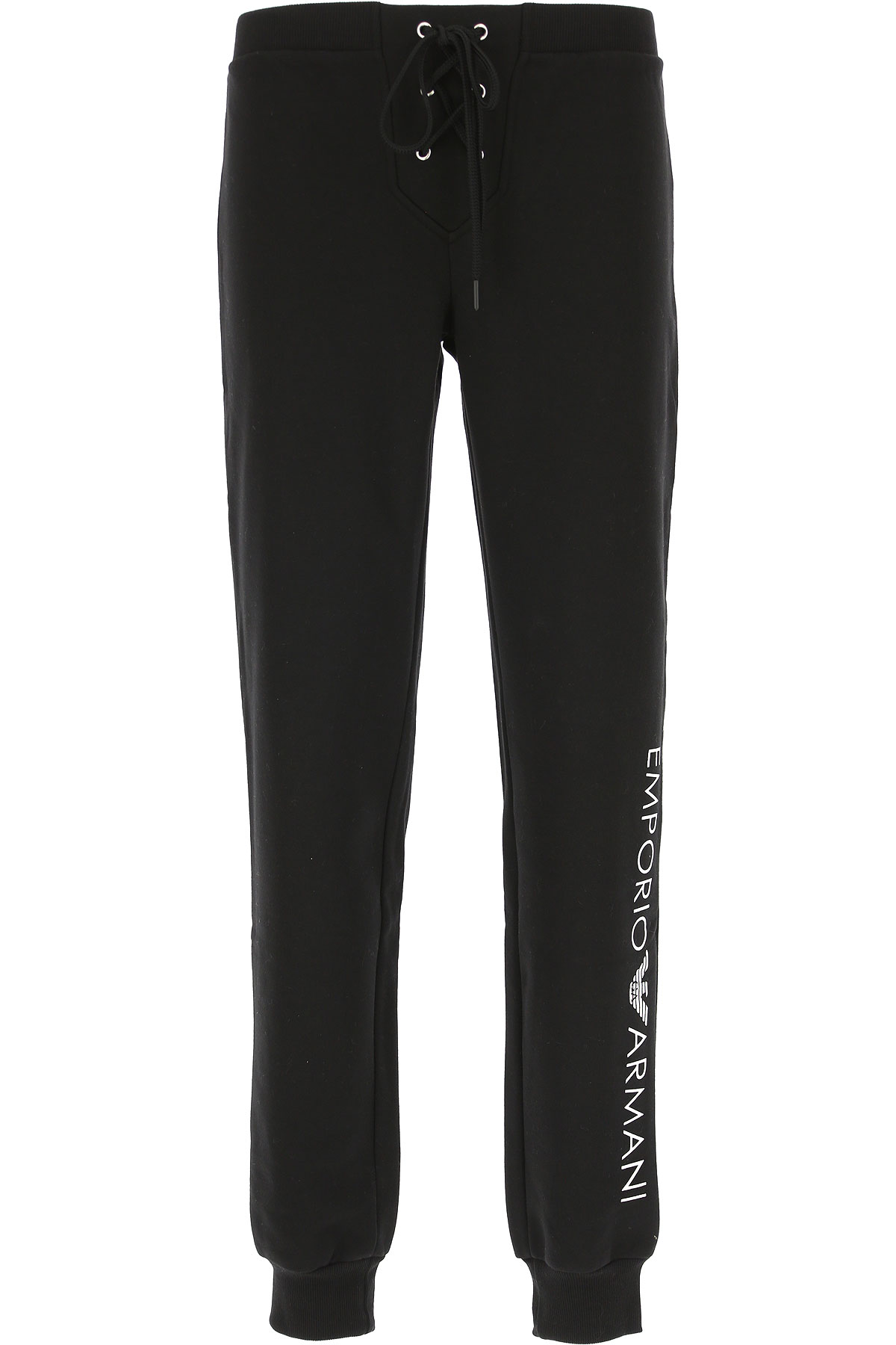 Image of Emporio Armani Women\'s Sportswear for Gym Workouts and Running, Black, Cotton, 2017, 10 2 4 6 8