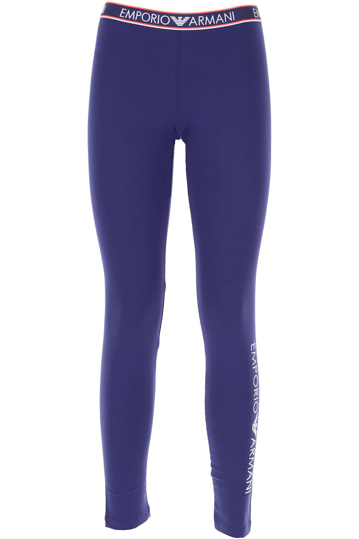 Emporio Armani Women's Sportswear for Gym Workouts and Running On Sale, Blue, Cotton, 2019, 2 4 6