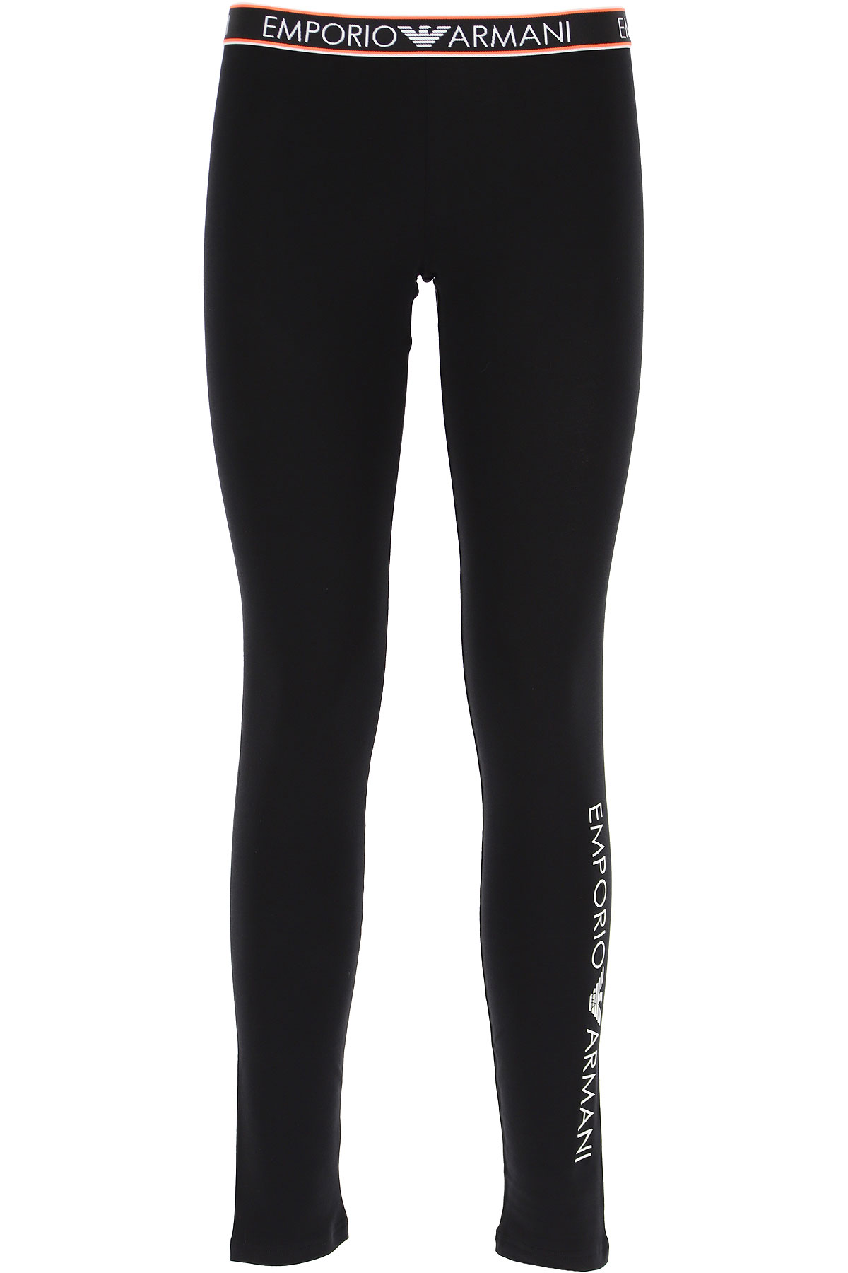 Emporio Armani Women's Sportswear for Gym Workouts and Running On Sale, Black, Cotton, 2019, 2 4 6