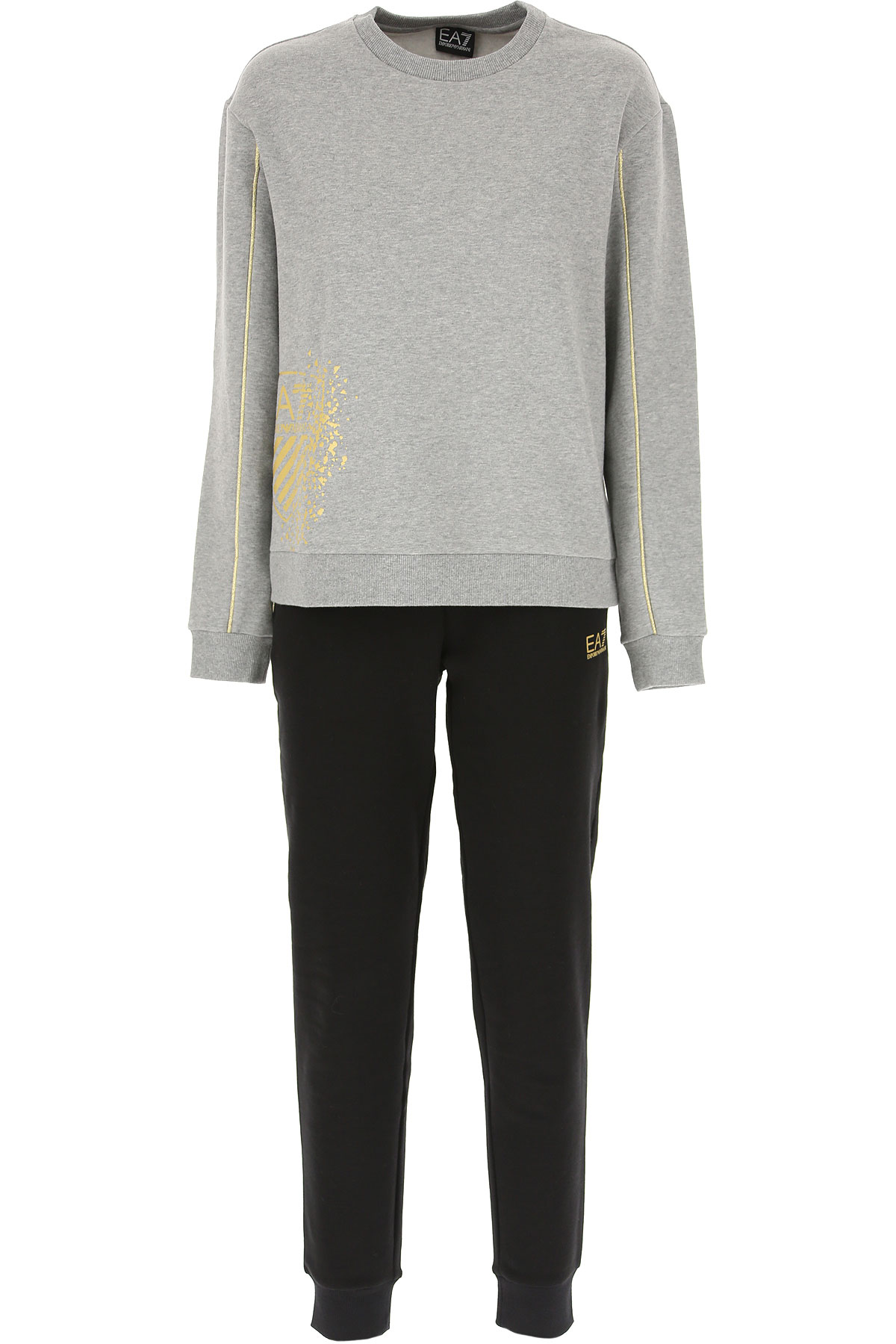 Emporio Armani Women's Sportswear for Gym Workouts and Running On Sale in Outlet, Grey Melange, Cotton, 2019, 2 6