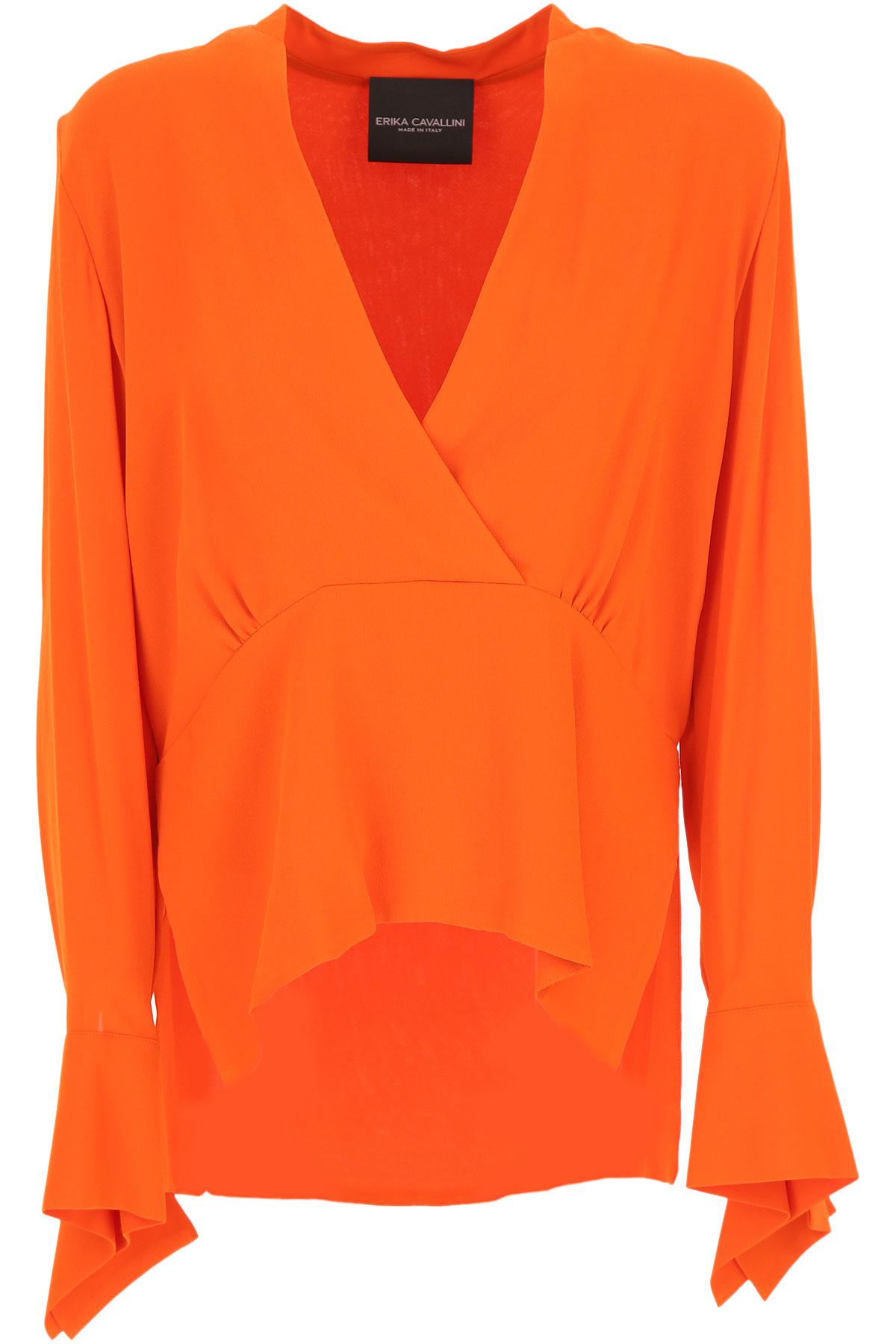 Erika Cavallini Top for Women On Sale, Orange, viscosa, 2019, 4 6