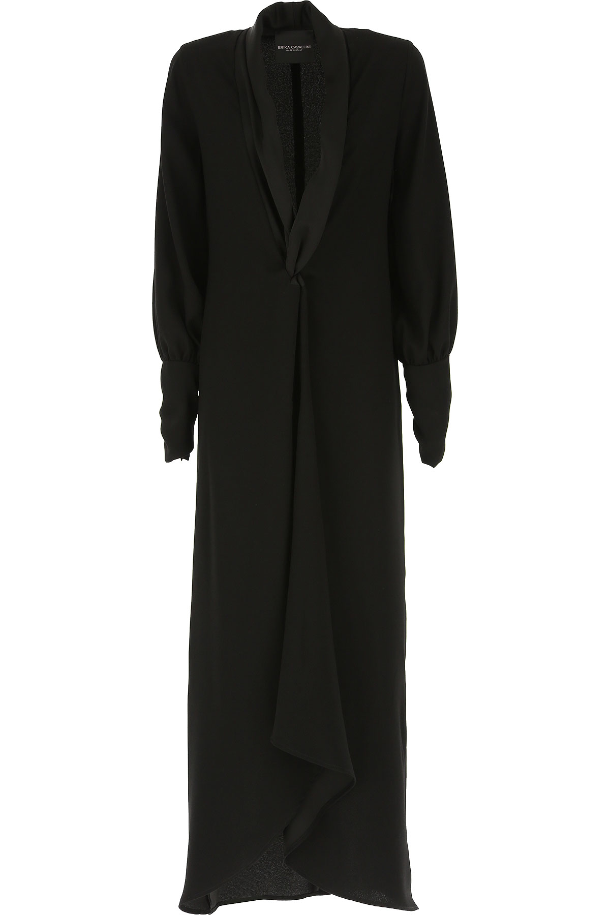 Erika Cavallini Dress for Women, Evening Cocktail Party On Sale, Black, polyestere, 2019, 4 6