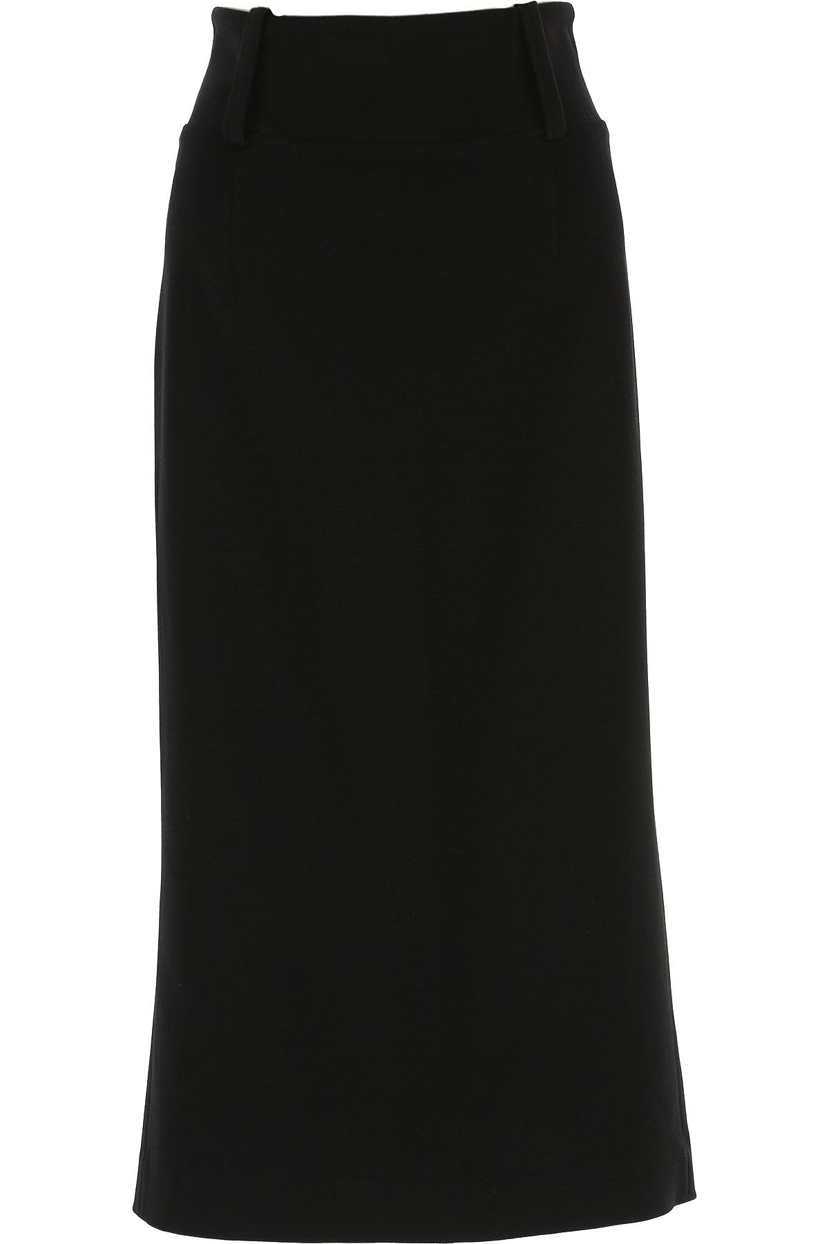 Erika Cavallini Skirt for Women On Sale, Black, viscosa, 2019, 26 28 30