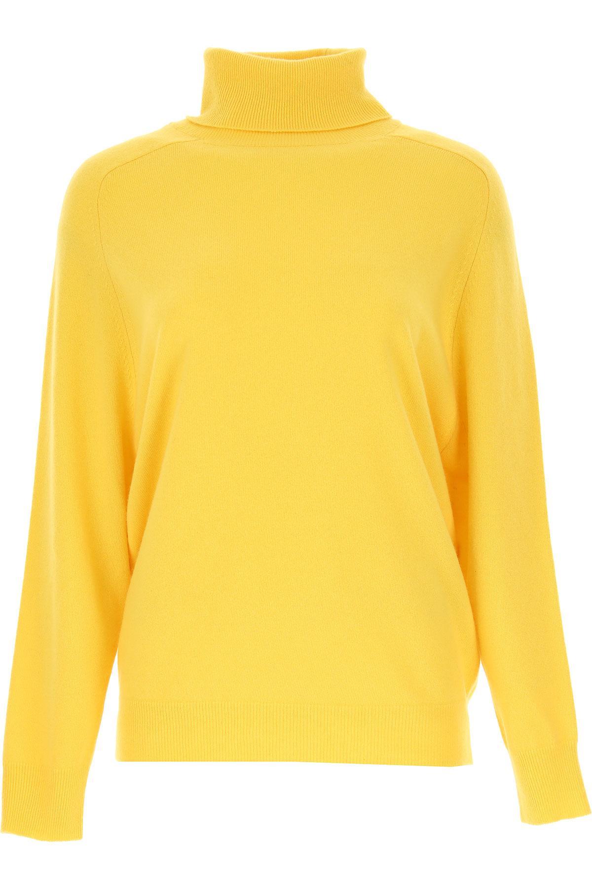 Erika Cavallini Sweater for Women Jumper On Sale, Yellow, Wool, 2019, 4 6