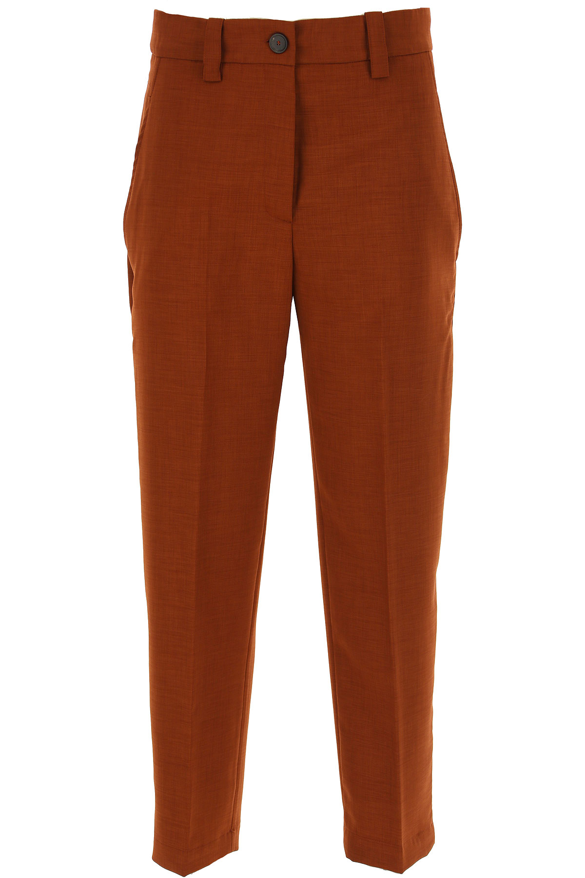 Erika Cavallini Pants for Women On Sale, Brown, polyestere, 2019, 24 26 28