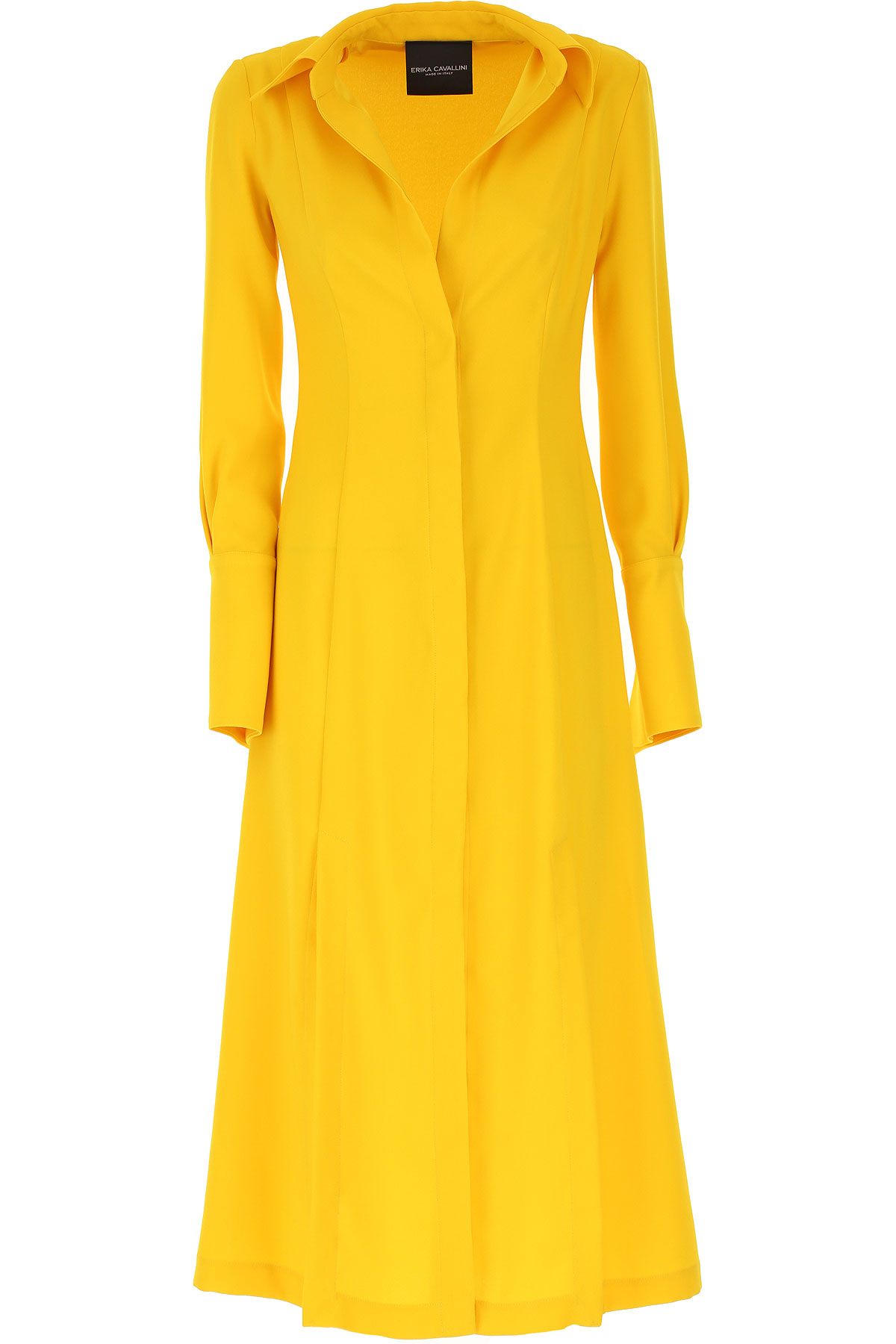 Erika Cavallini Dress for Women, Evening Cocktail Party On Sale, Yellow, polyestere, 2019, 2 4 6