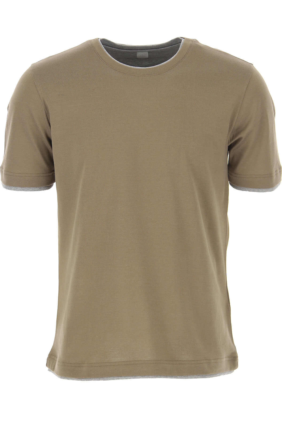 Eleventy T-Shirt for Men On Sale, Military Green, Cotton, 2019, XL XXL