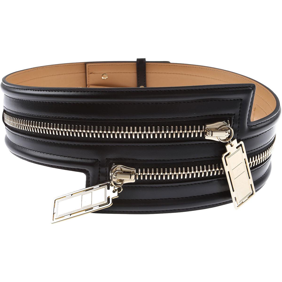 Elisabetta Franchi Belt for Women On Sale, Black, Synthetic Leather, 2019, Eu - 40 EU - 42 Eu - 44