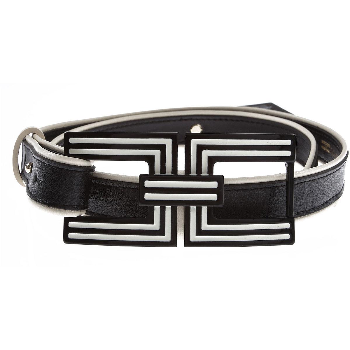 Elisabetta Franchi Belt for Women On Sale, Black, Synthetic Leather, 2019, EU - 42 Eu - 44