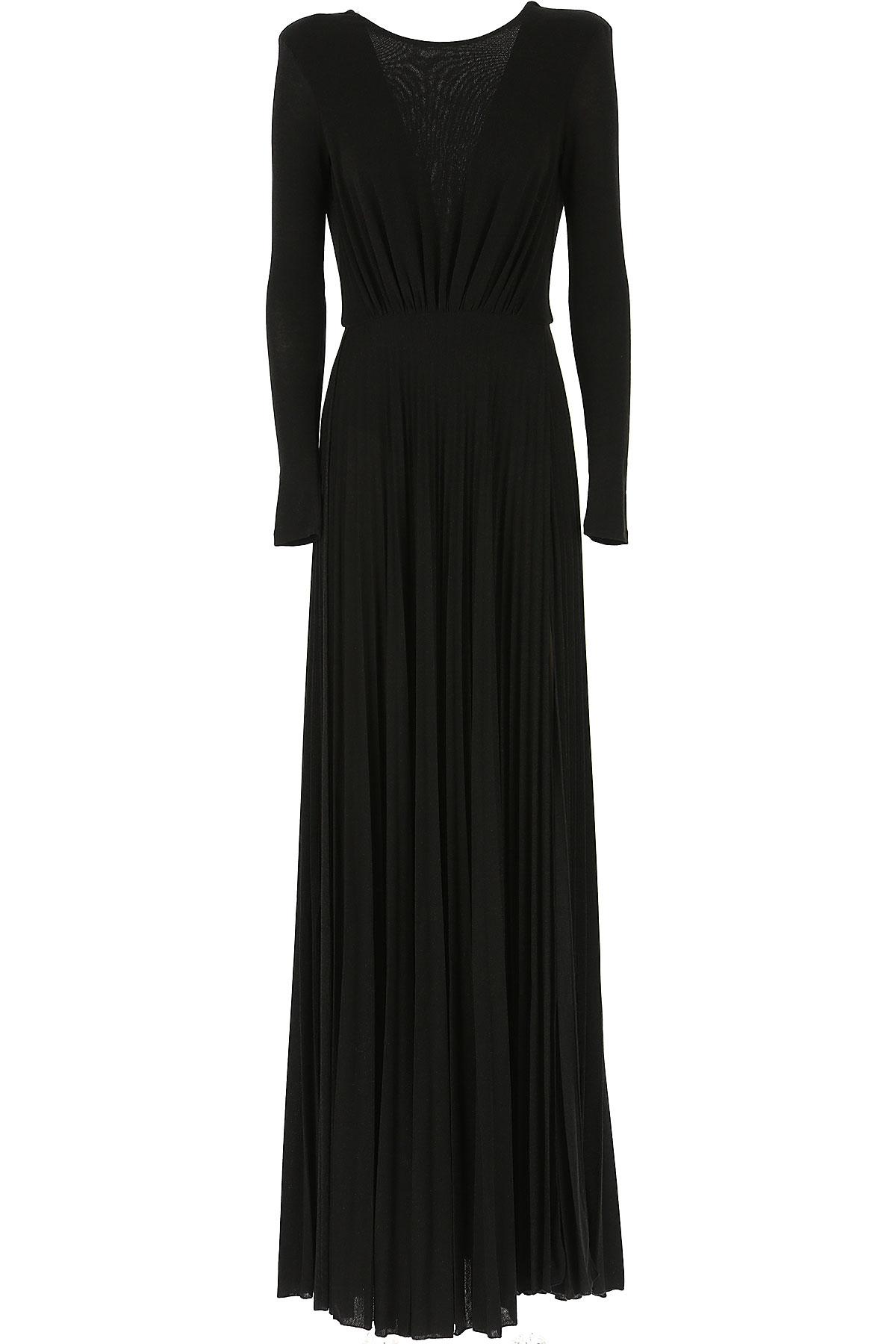 Elisabetta Franchi Dress for Women, Evening Cocktail Party On Sale, Black, viscosa, 2019, 4 6