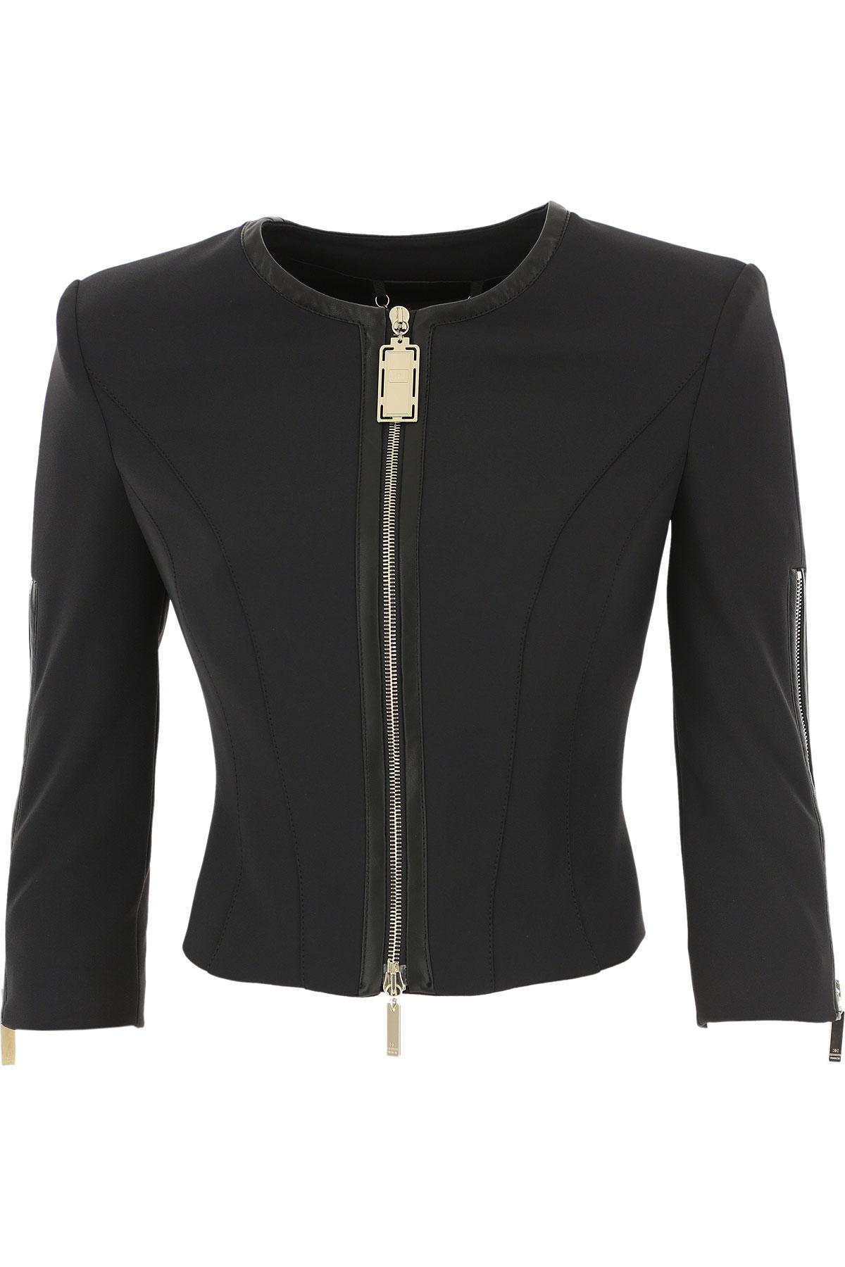 Elisabetta Franchi Blazer for Women On Sale, Black, polyestere, 2019, 4 6