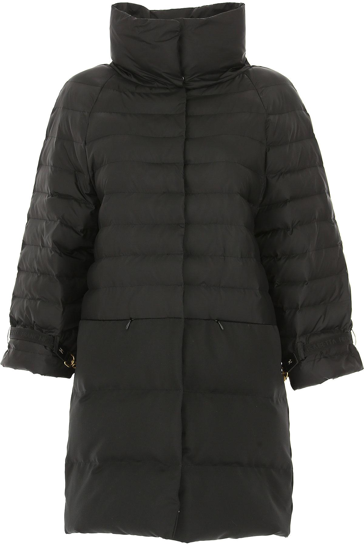 Image of Elisabetta Franchi Down Jacket for Women, Puffer Ski Jacket, Black, polyamide, 2017, 2 4 6 8