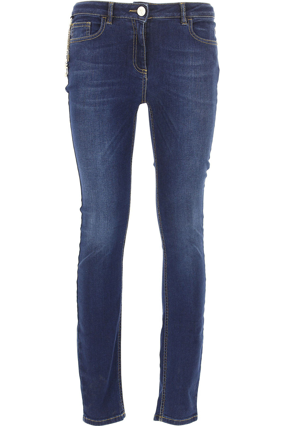 Elisabetta Franchi Jeans On Sale, Denim Blue, Cotton, 2017, 29 30 31