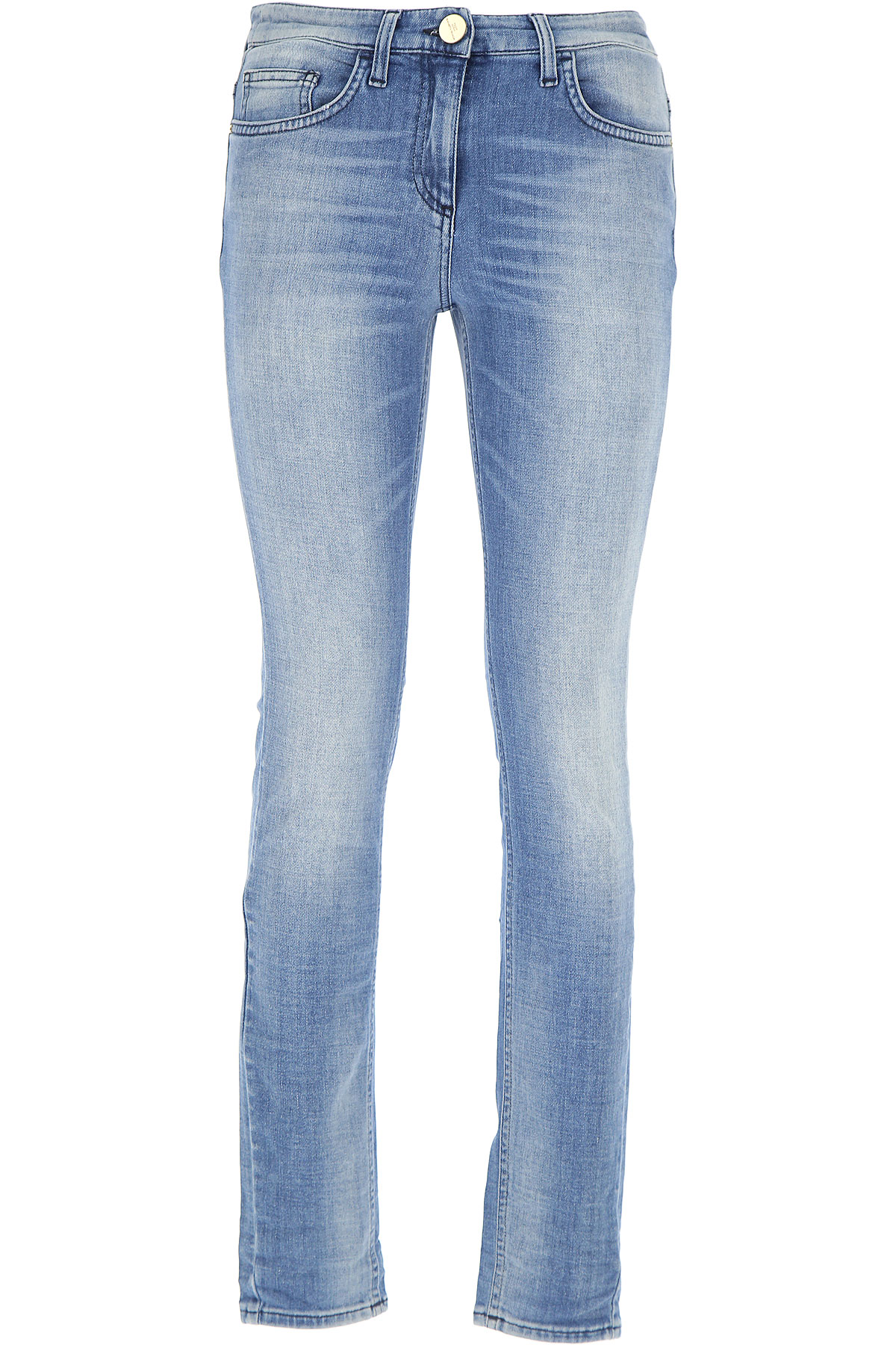 Elisabetta Franchi Jeans On Sale, Denim Blue, Cotton, 2017, 25 26 27 28 30