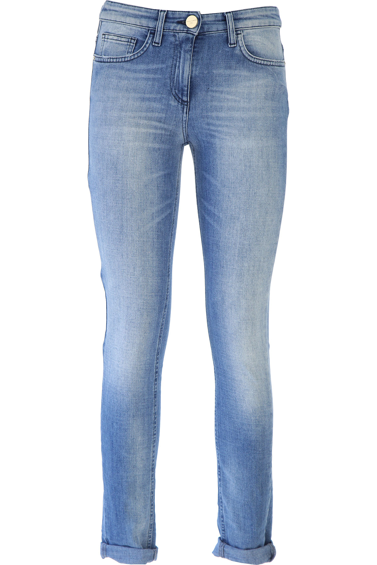 Elisabetta Franchi Jeans On Sale, Denim Blue, Cotton, 2017, 24 25 26 28 30