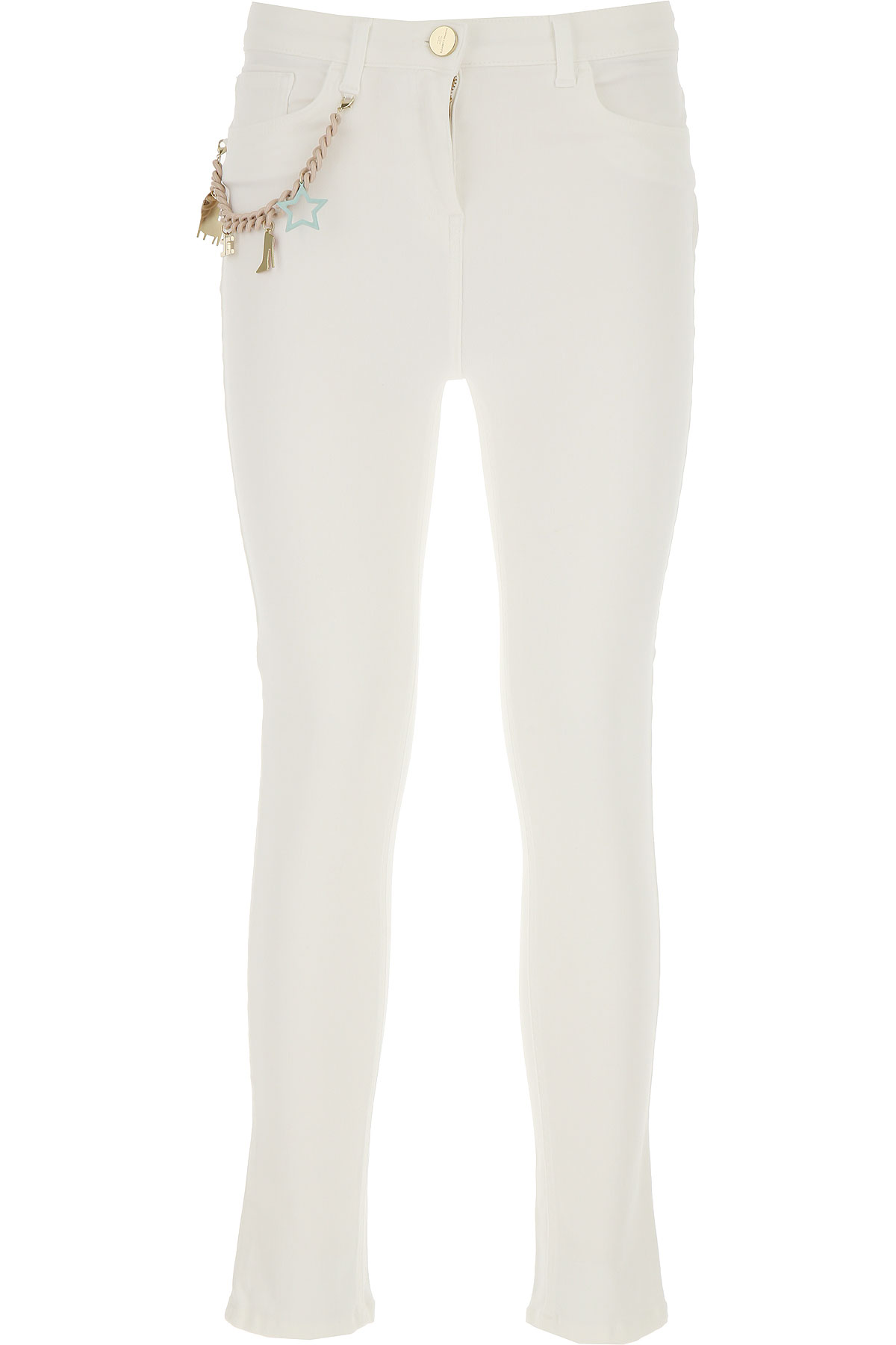 Elisabetta Franchi Jeans, White, Cotton, 2017, 27 28 29 30