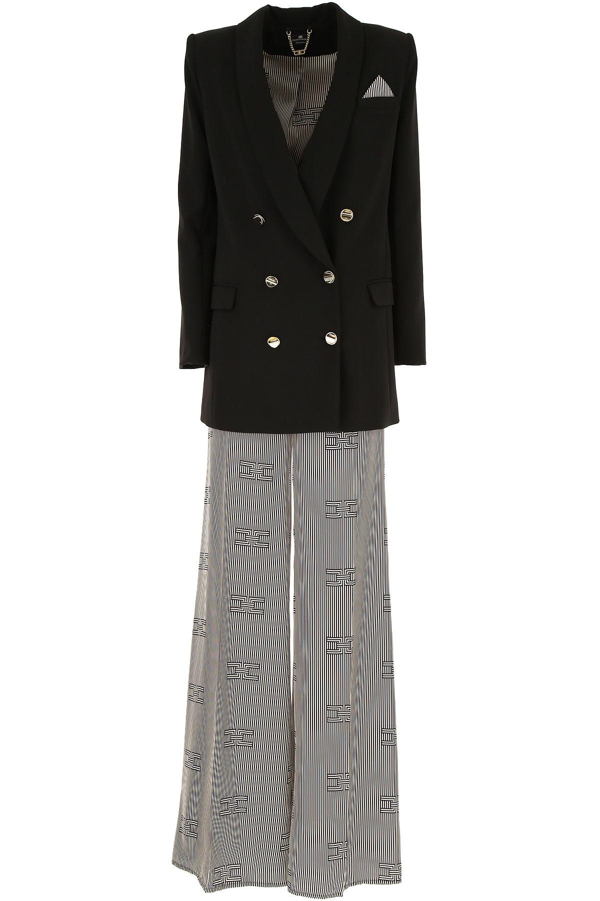Elisabetta Franchi Blazer for Women On Sale, Black, polyester, 2019, 4 6