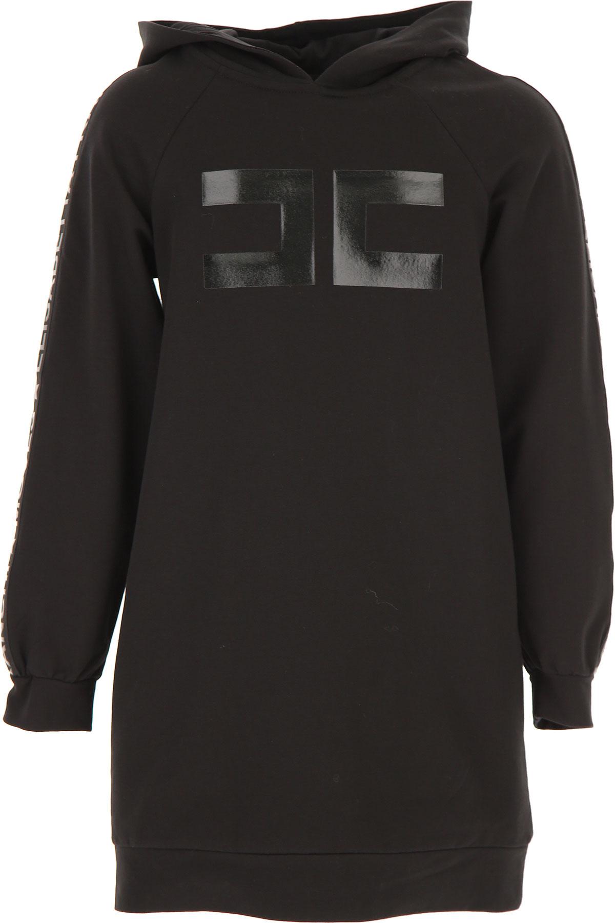 Elisabetta Franchi Girls Dress On Sale, Black, Cotton, 2019, L M S XL XS XXS