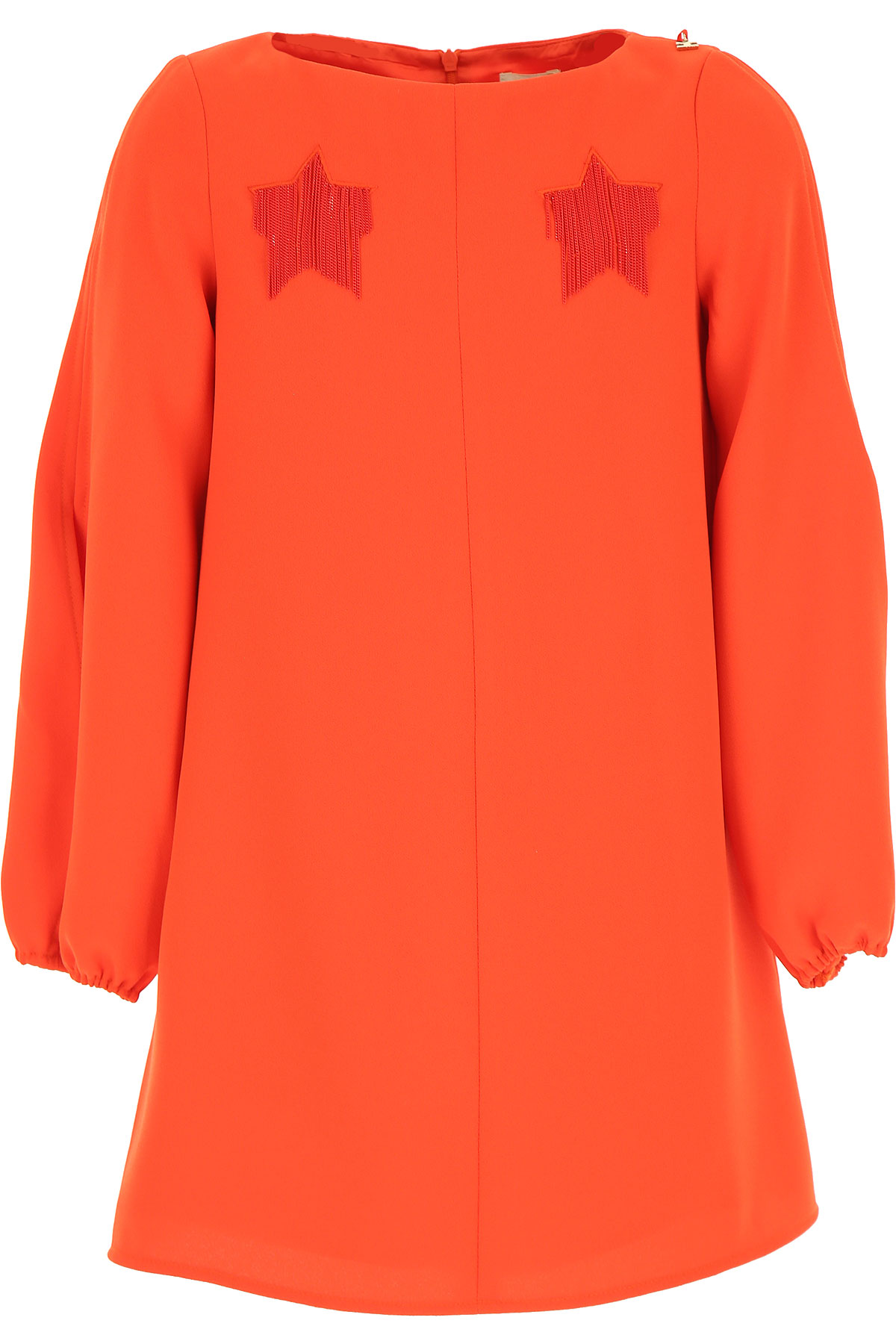 Elisabetta Franchi Girls Dress On Sale, Coral, polyester, 2019, L M XL