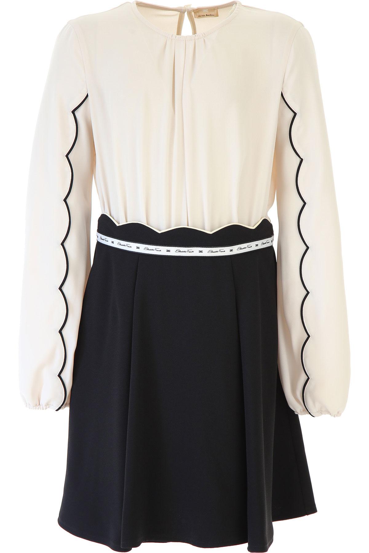 Elisabetta Franchi Girls Dress On Sale, Beige, polyester, 2019, L M S XL