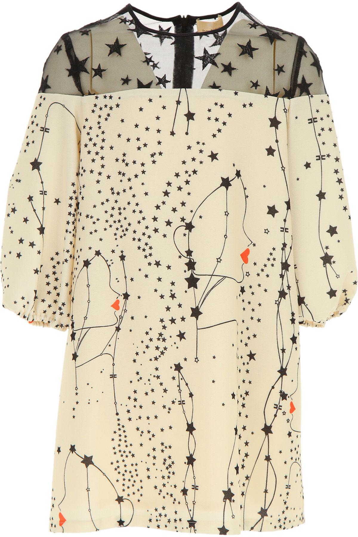 Elisabetta Franchi Girls Dress On Sale, Ivory, polyester, 2019, L M S XL