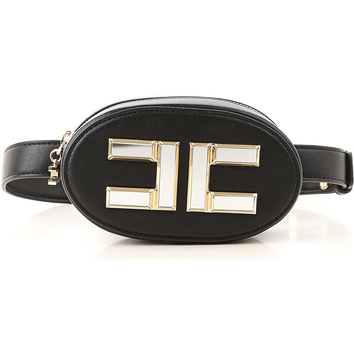 Elisabetta Franchi Girls Handbag On Sale, Black, polyurethane, 2019