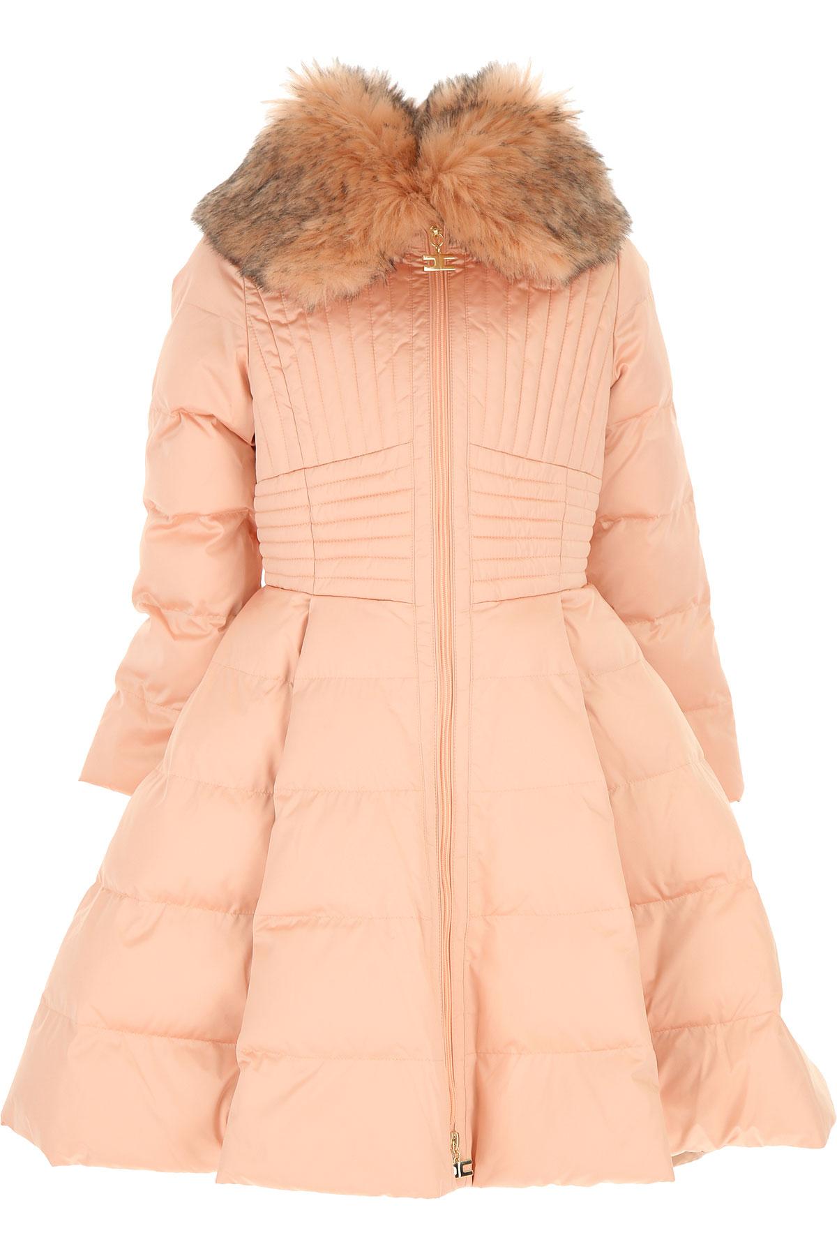 Elisabetta Franchi Girls Down Jacket for Kids, Puffer Ski Jacket On Sale, Pink, polyester, 2019, M XL