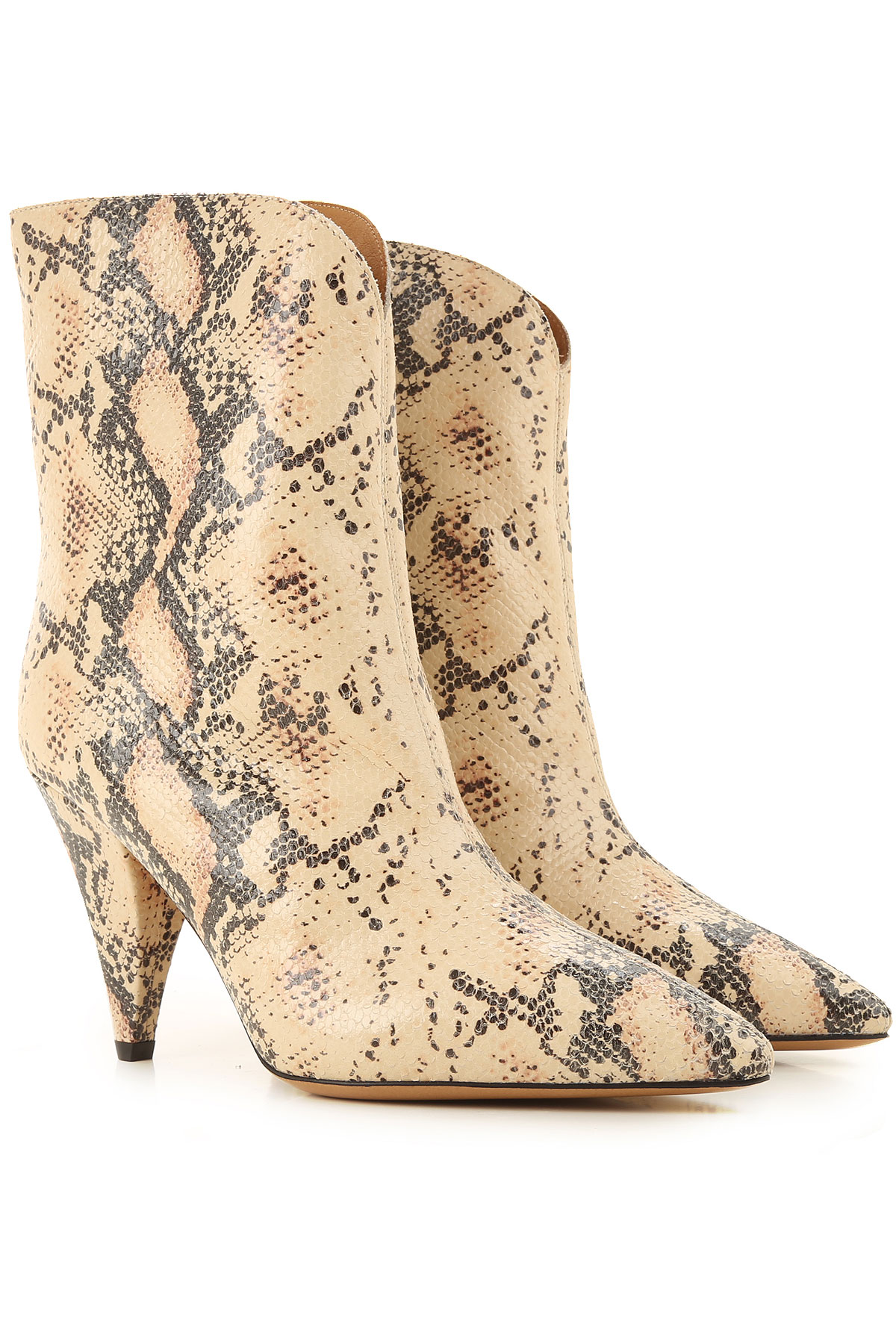 Elena Iachi Boots for Women, Booties On Sale, Natural, Leather, 2019, 10 11 6 7 8 9