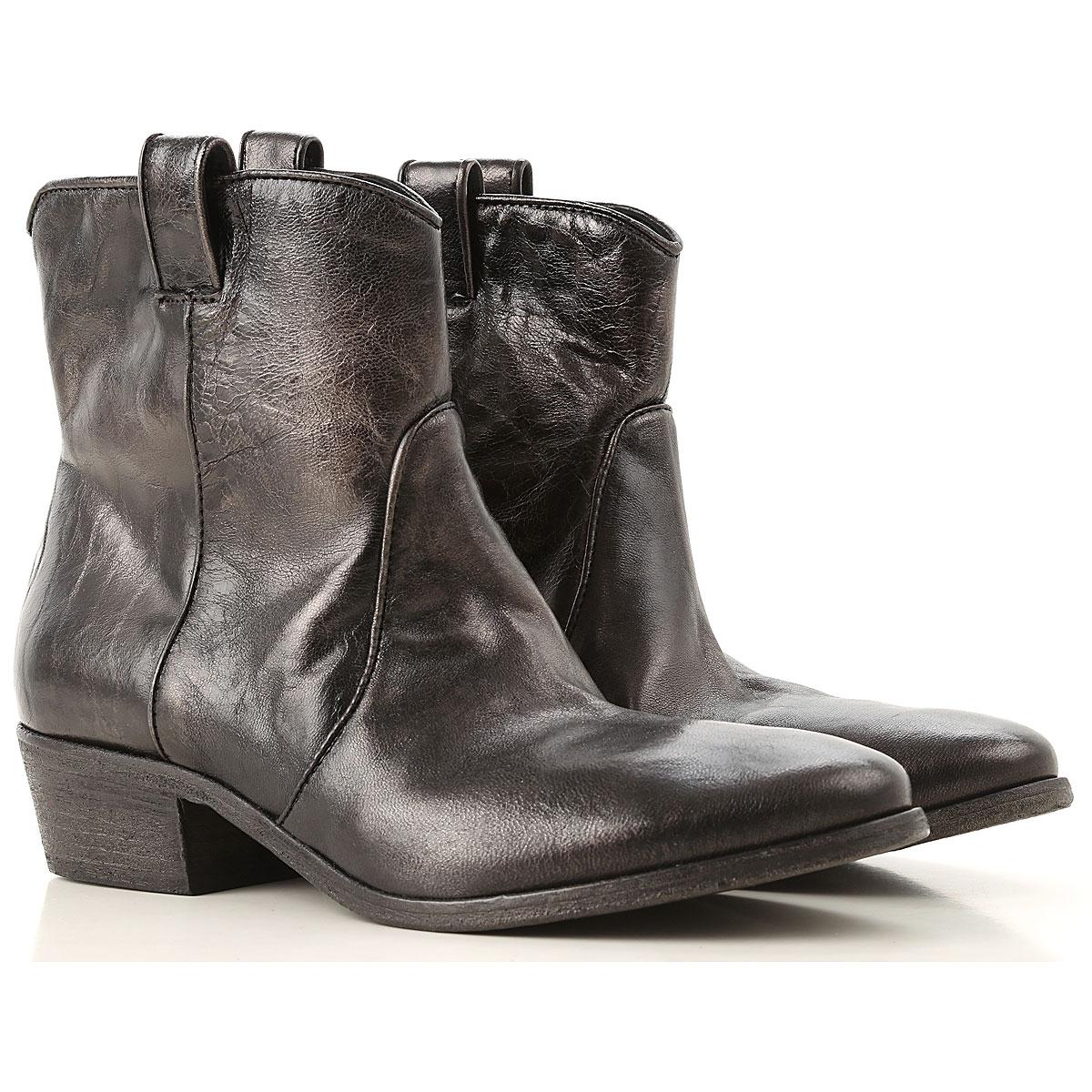 Image of Elena Iachi Boots for Women, Booties, Dark Gunmetal, Leather, 2017, 10 6 7 8 9